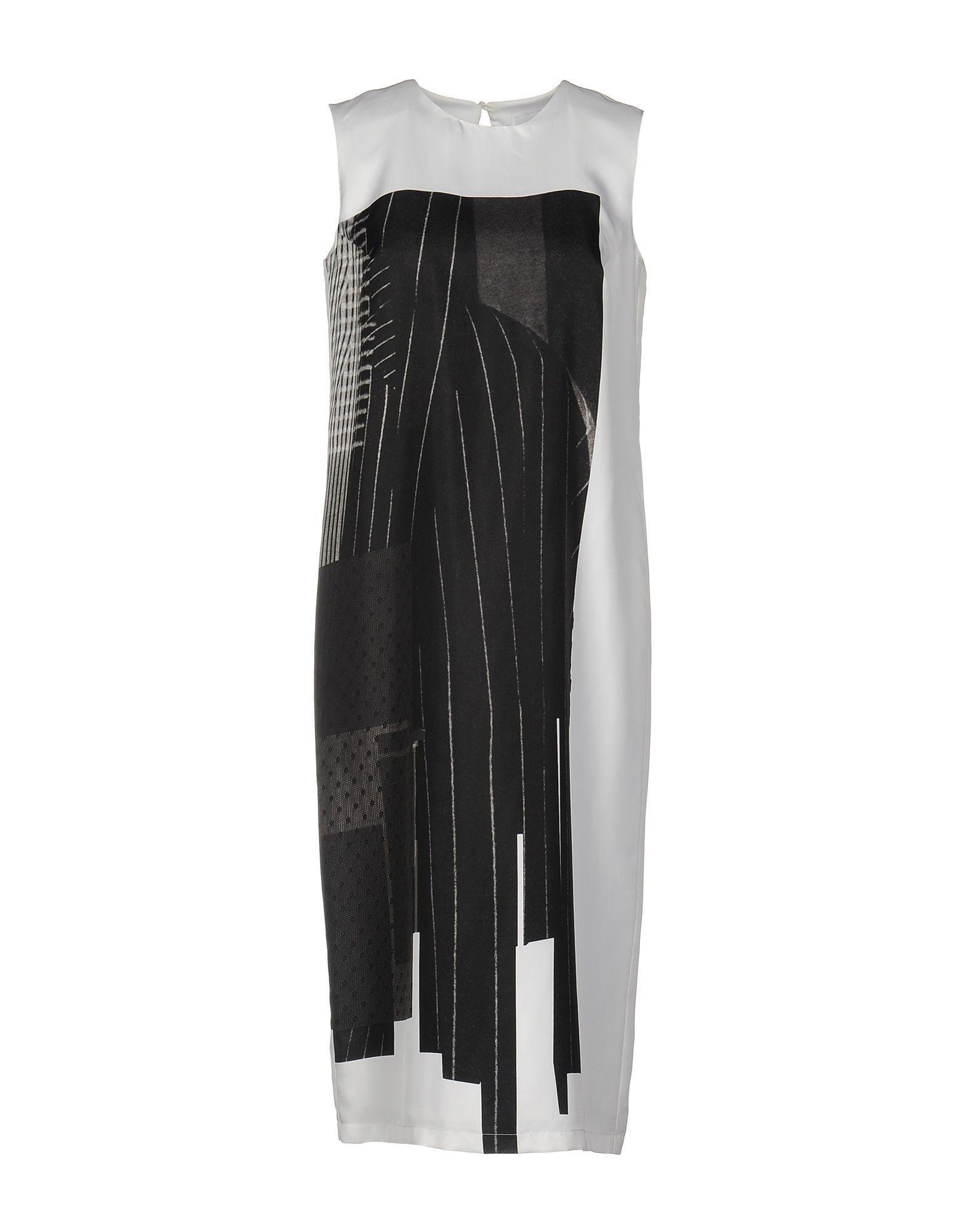 DKNY White Silk Dress