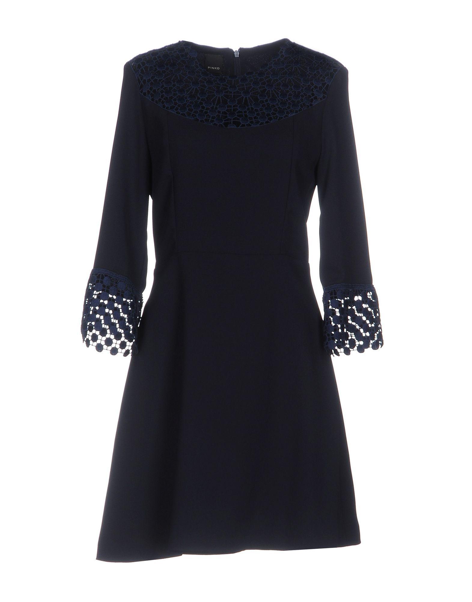 Pinko Dark Blue Long Sleeve Dress