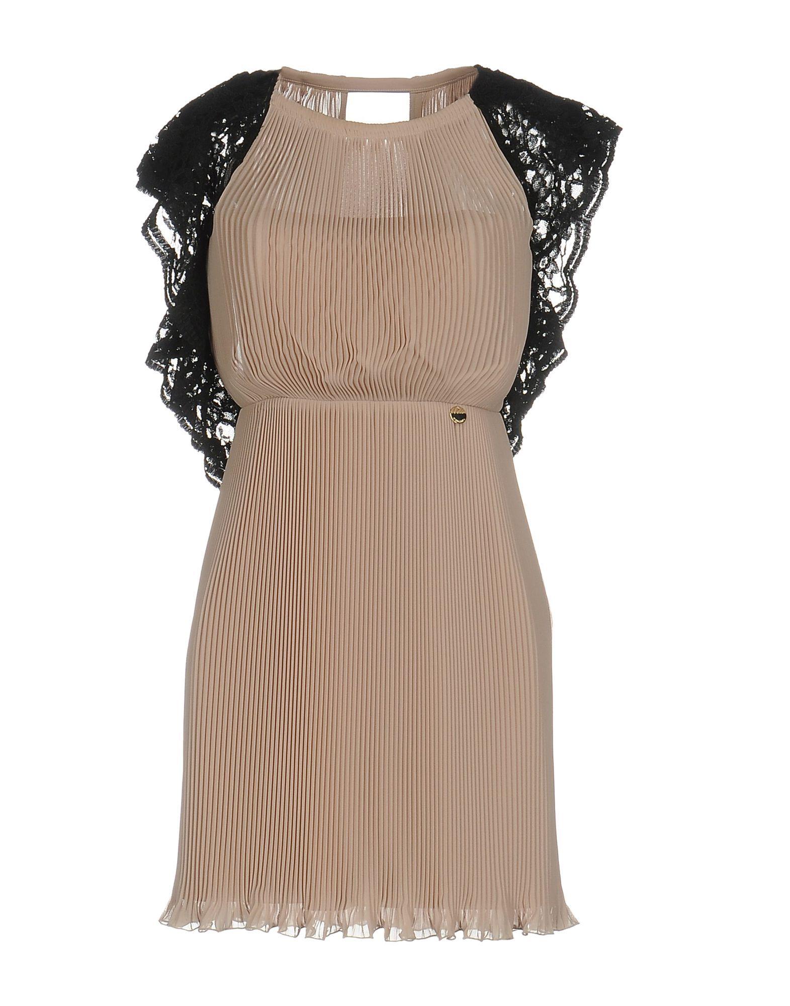 Mangano Pale Pink Crepe And Lace Dress