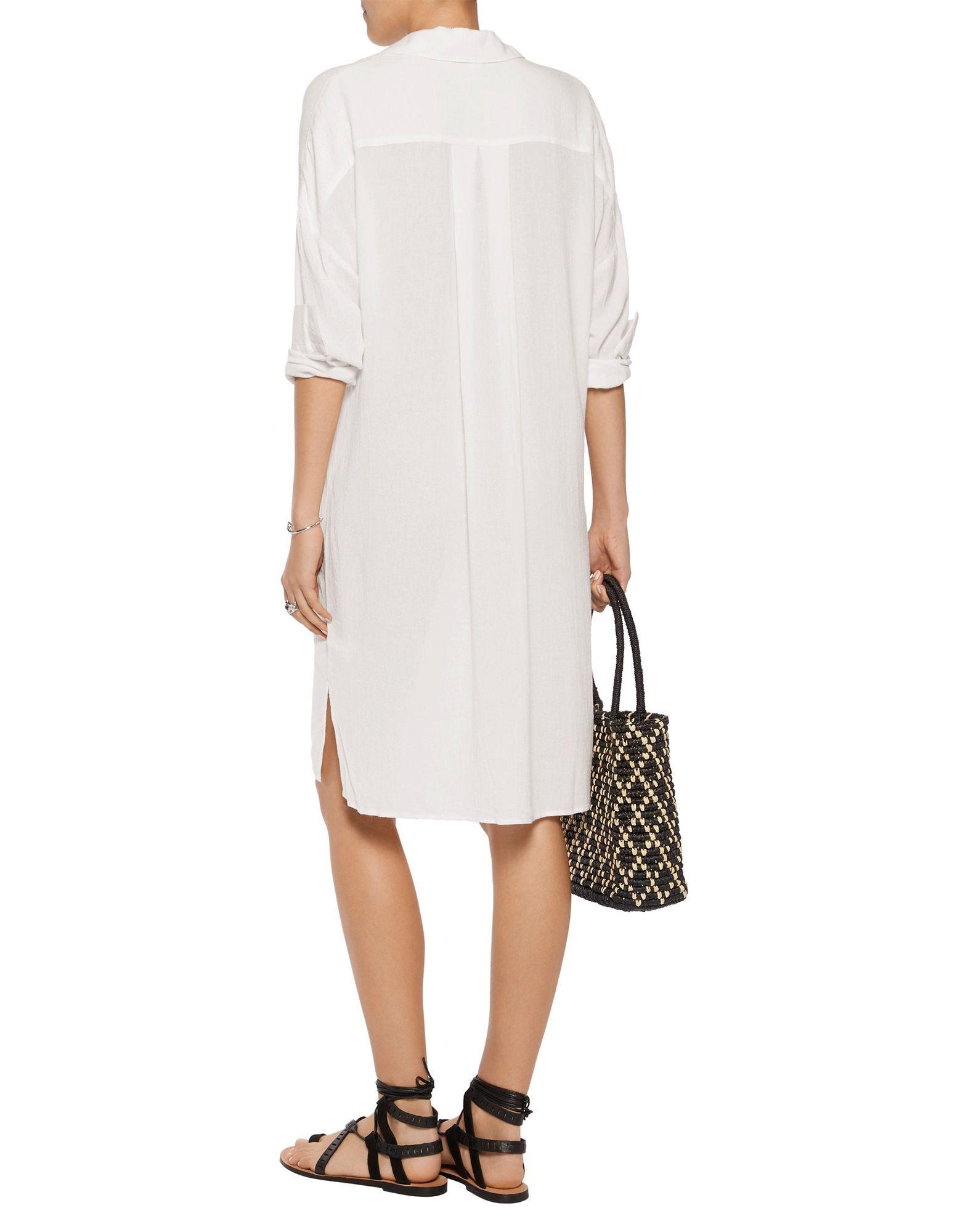 James Perse Ivory Long Sleeve Dress