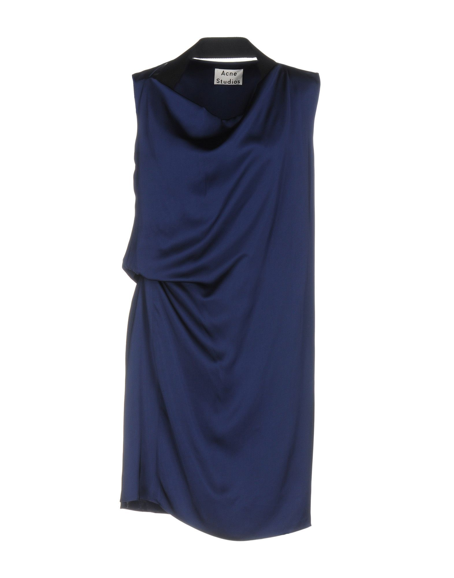 Acne Studios Dark Blue Draped Short Dress