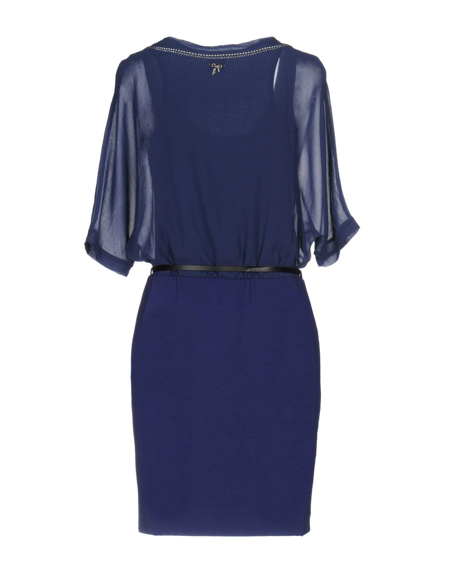 Scee By Twinset Dark Blue Short Sleeve Dress
