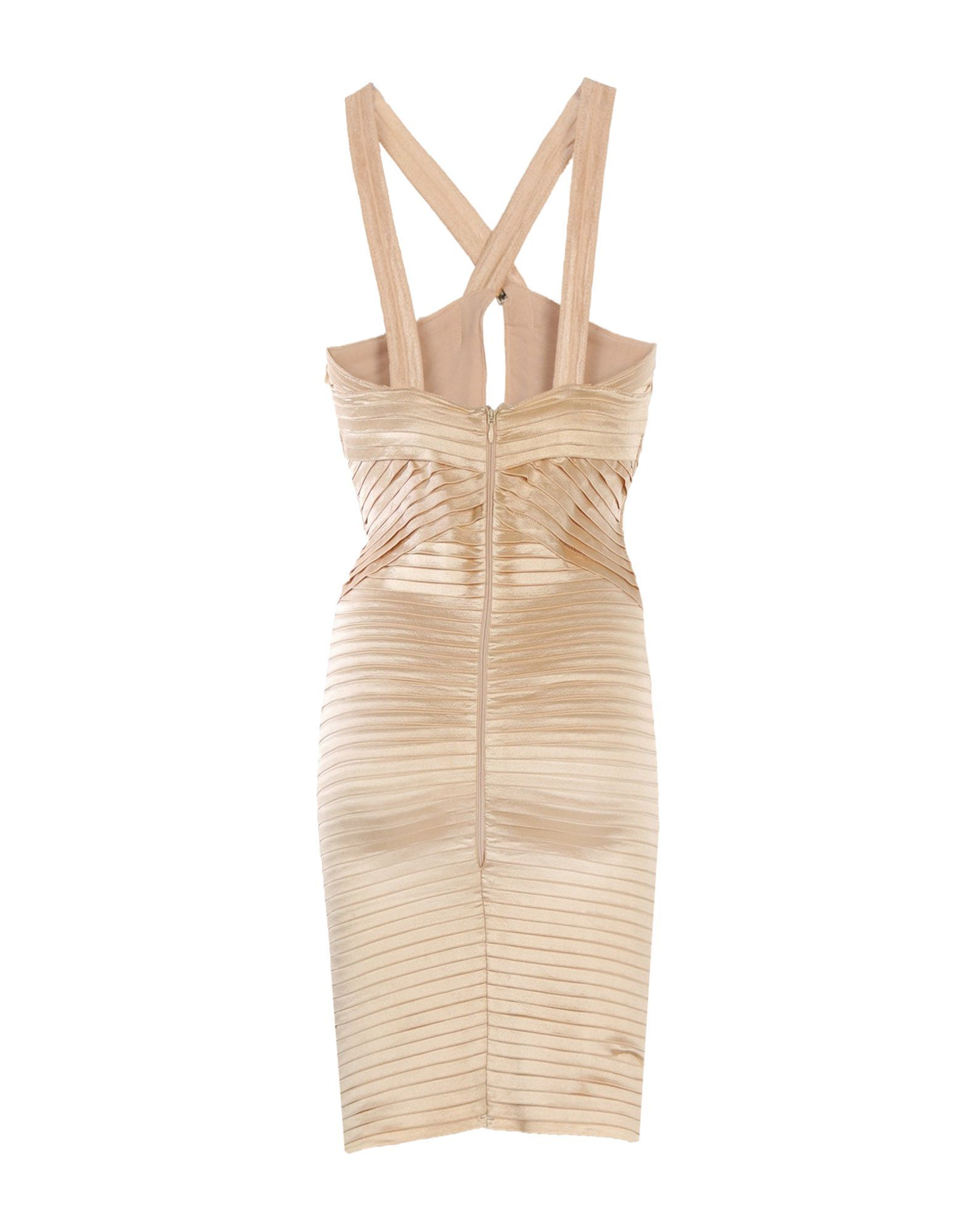 Elisabetta Franchi Gold Sand Short Dress