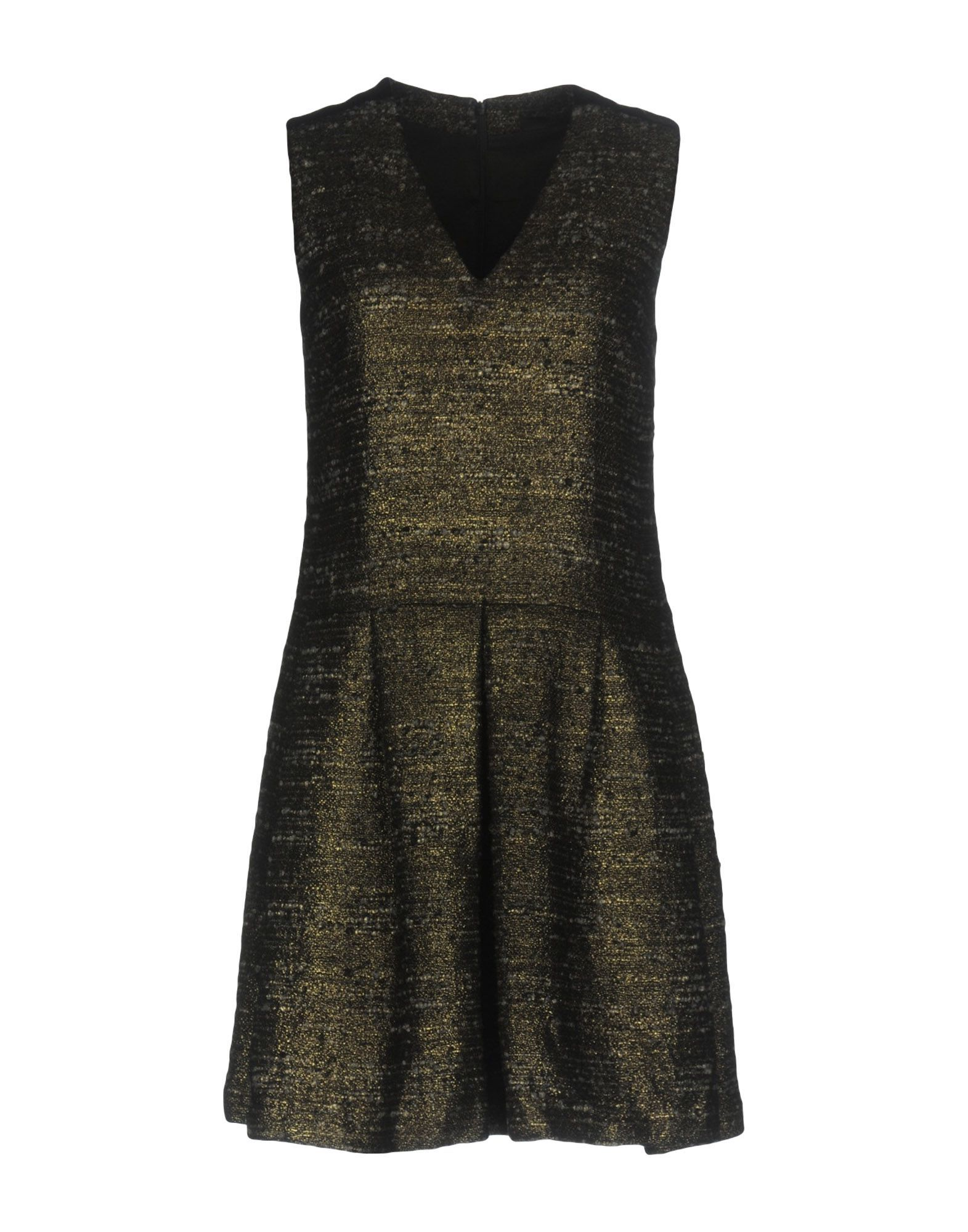 Karl Lagerfeld Gold Faux Leather Short Dress