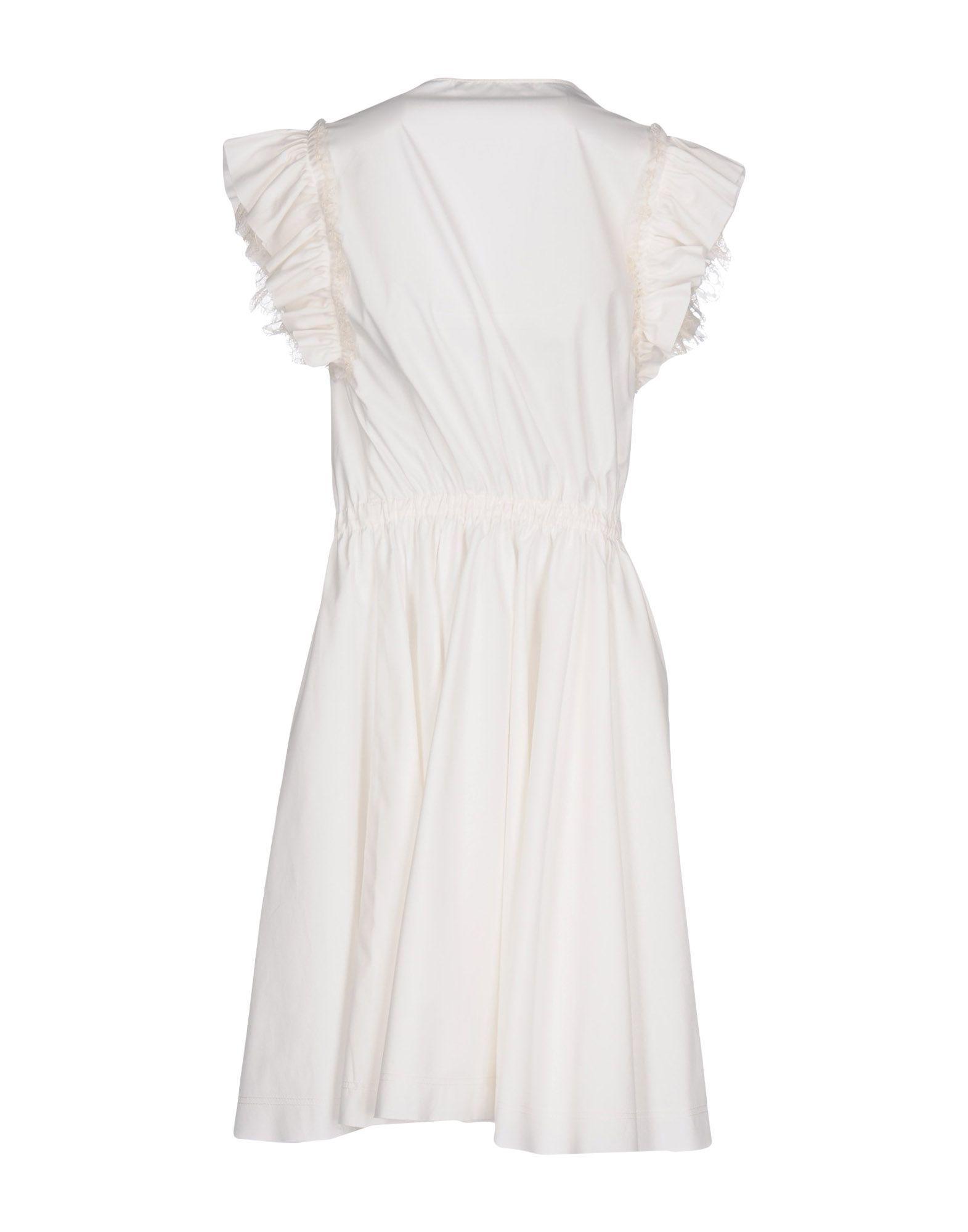 Philosophy Di Lorenzo Serafini White Cotton Short Dress