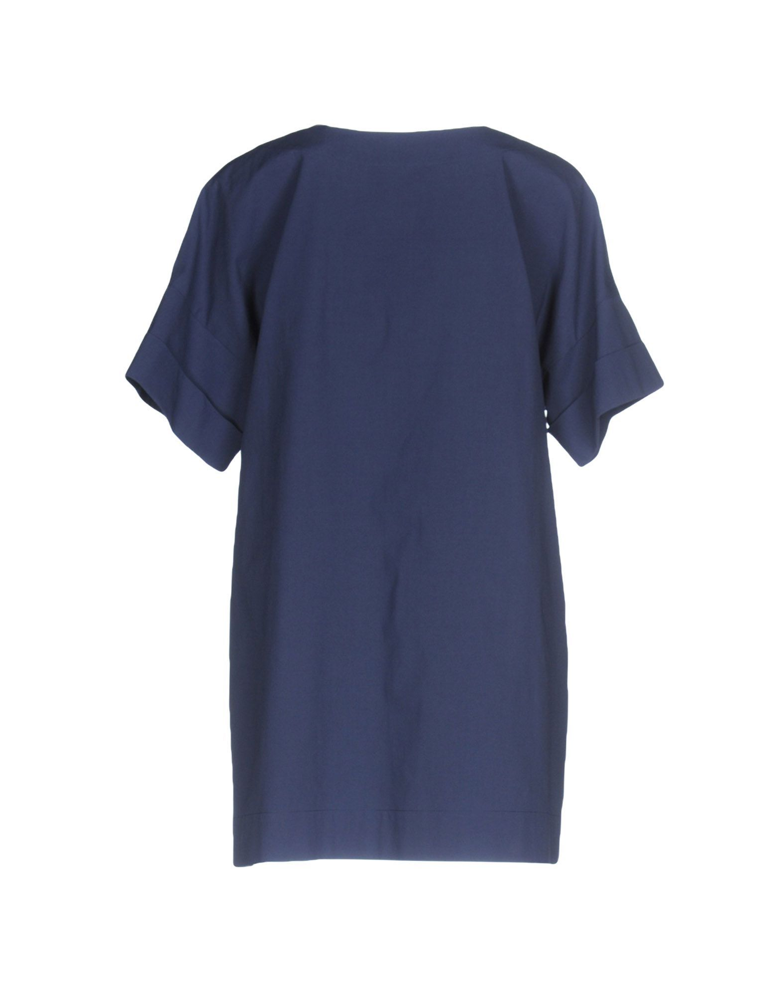 Boutique Moschino Dark blue, White Cotton Bluse