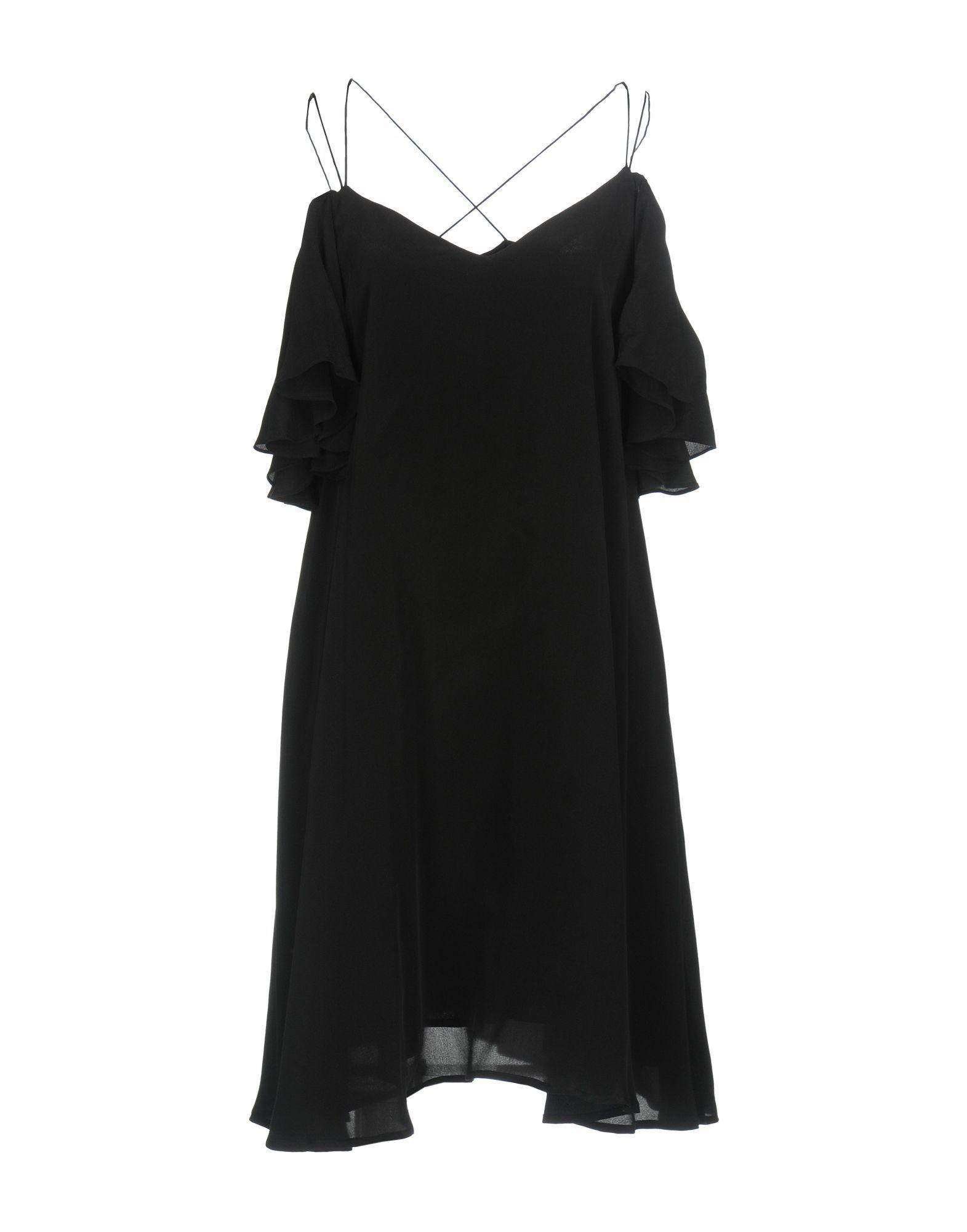Essentiel Antwerp Black Silk Camisole Dress