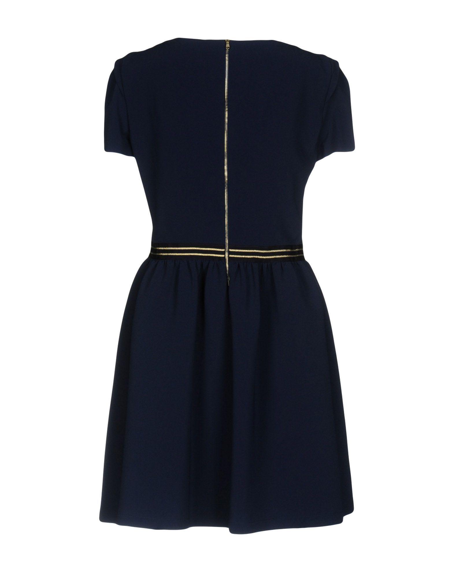 Patrizia Pepe Dark Blue Short Sleeve Dress