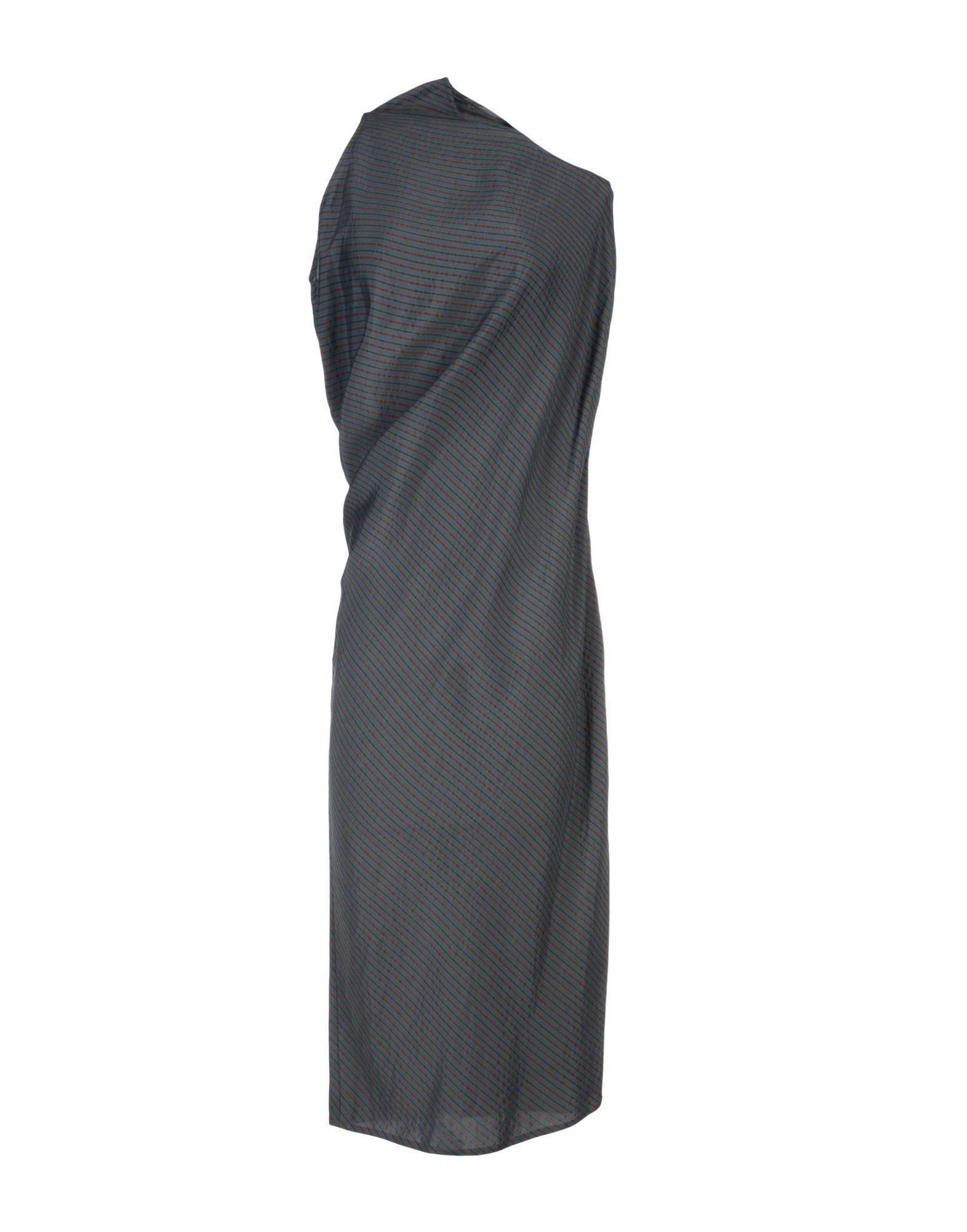 MM6 Maison Margiela Dark Green Draped Dress