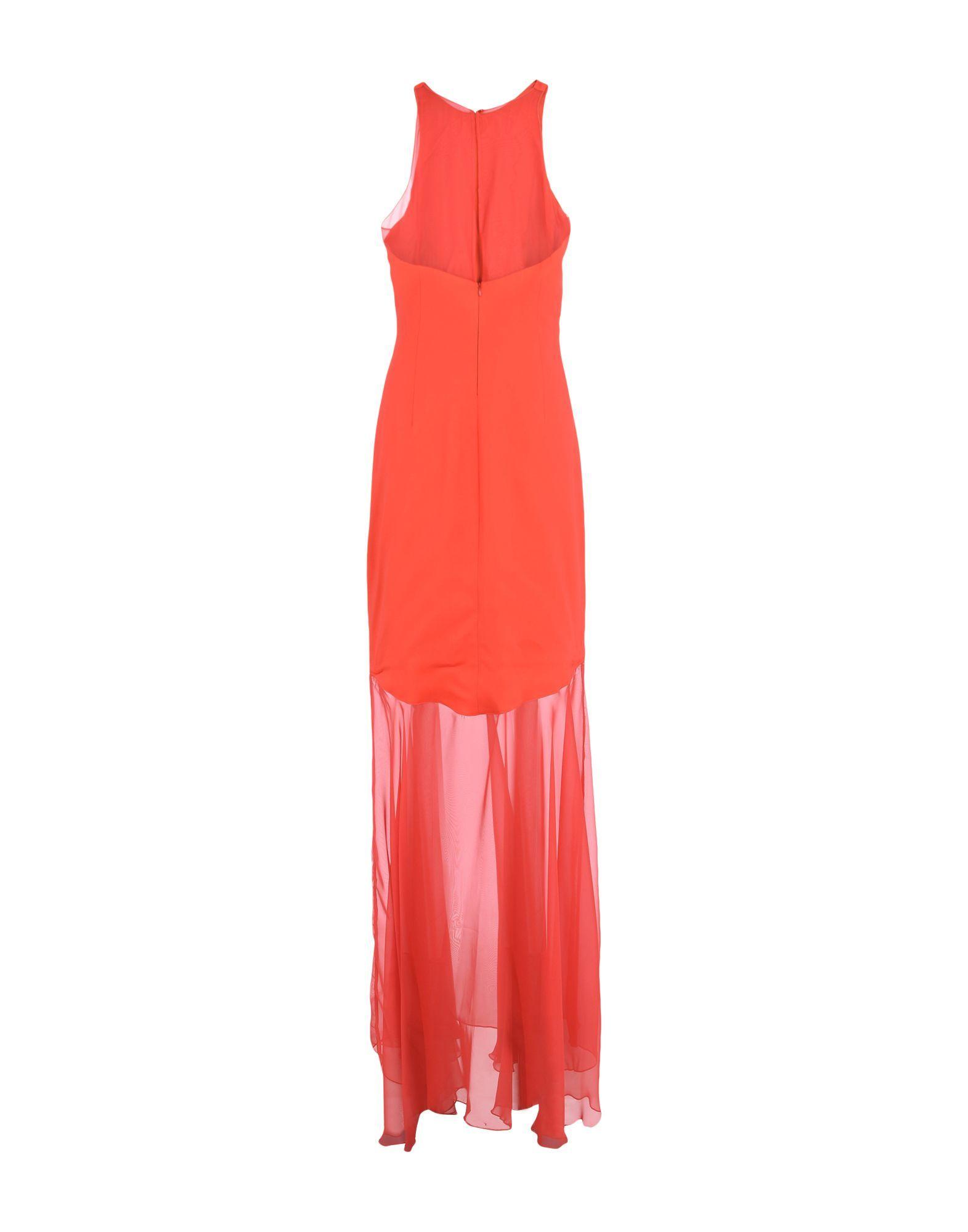 Cristinaeffe Red Crepe Full Length Dress
