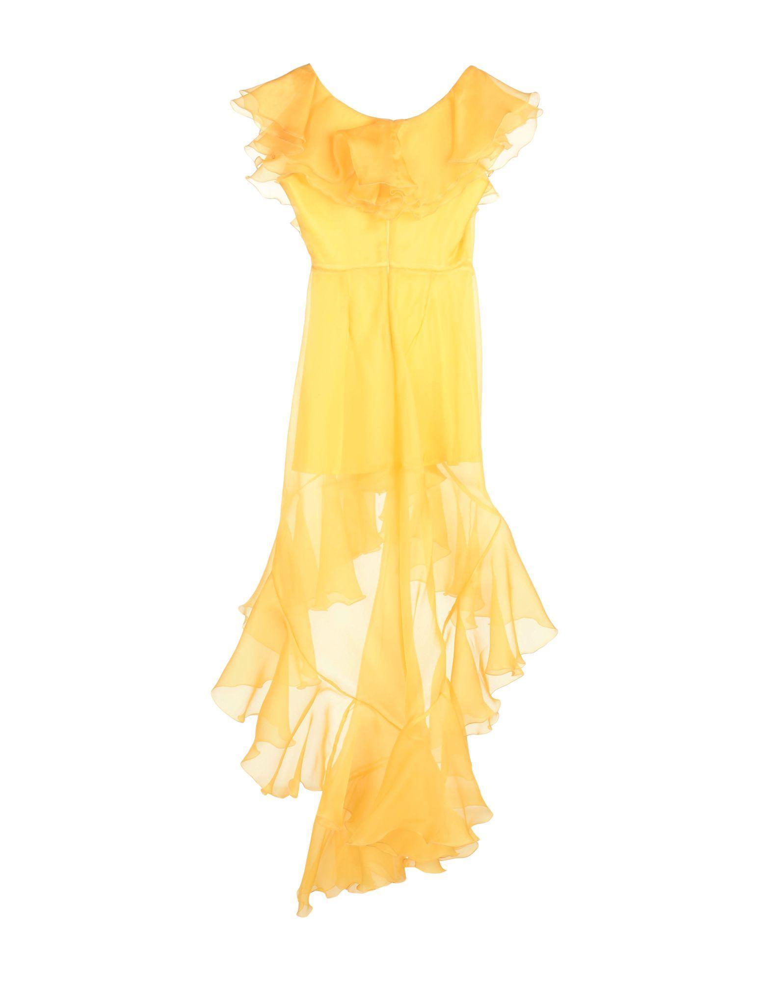Leitmotiv Yellow Silk Dress