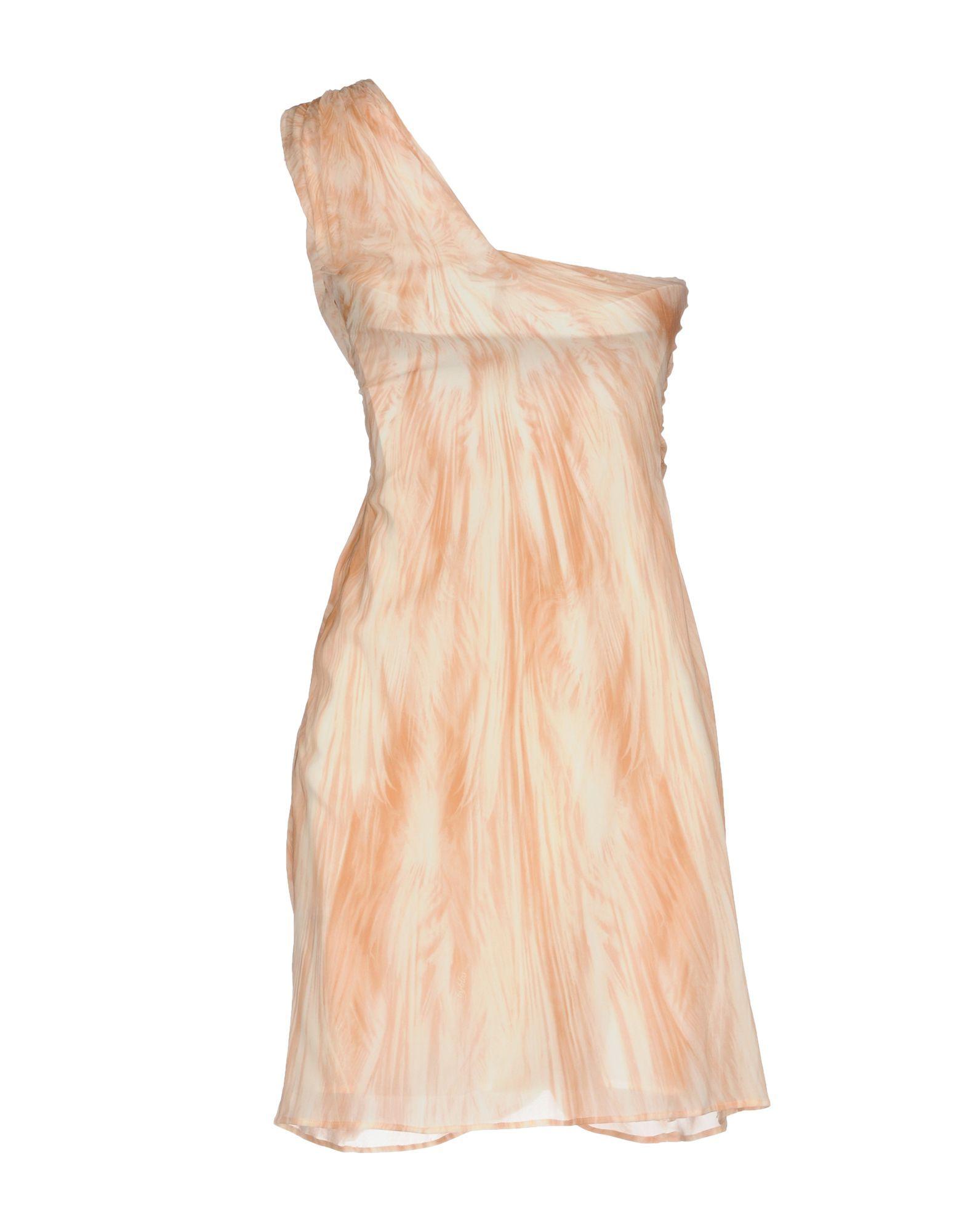 Byblos Pastel Pink One Shoulder Dress