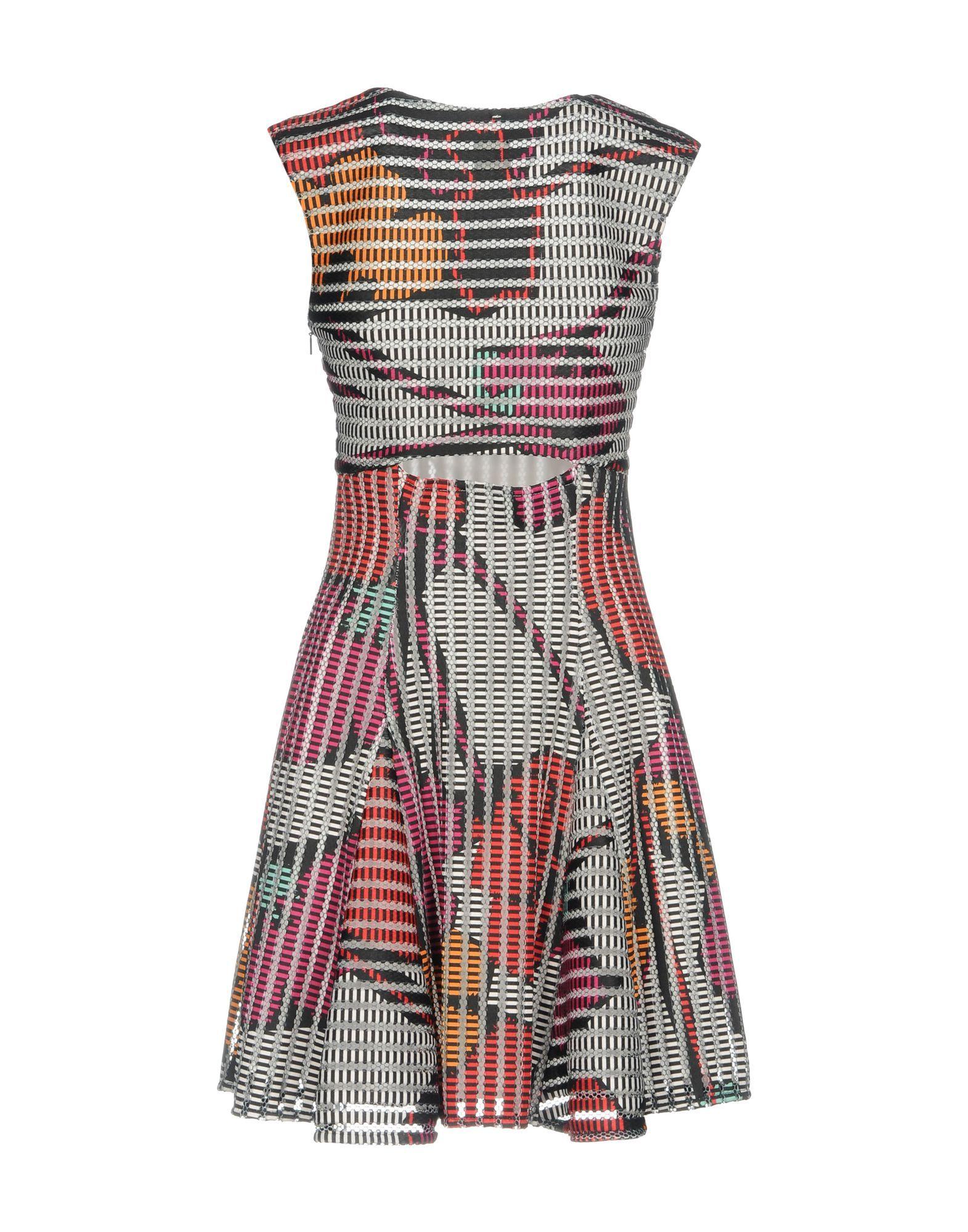 Pinko Fuchsia Print Short Dress