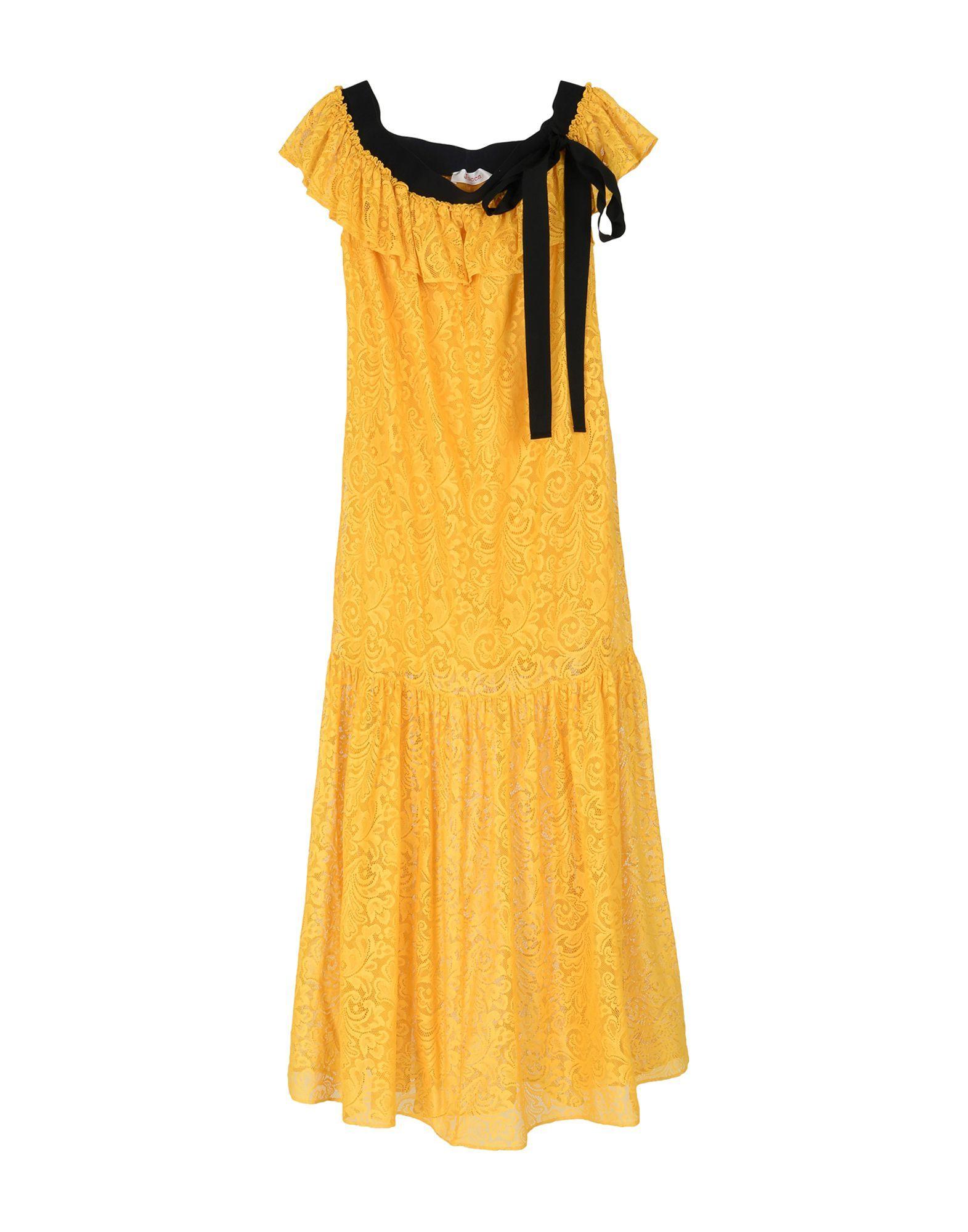 Jucca Ochre Cotton Lace Dress
