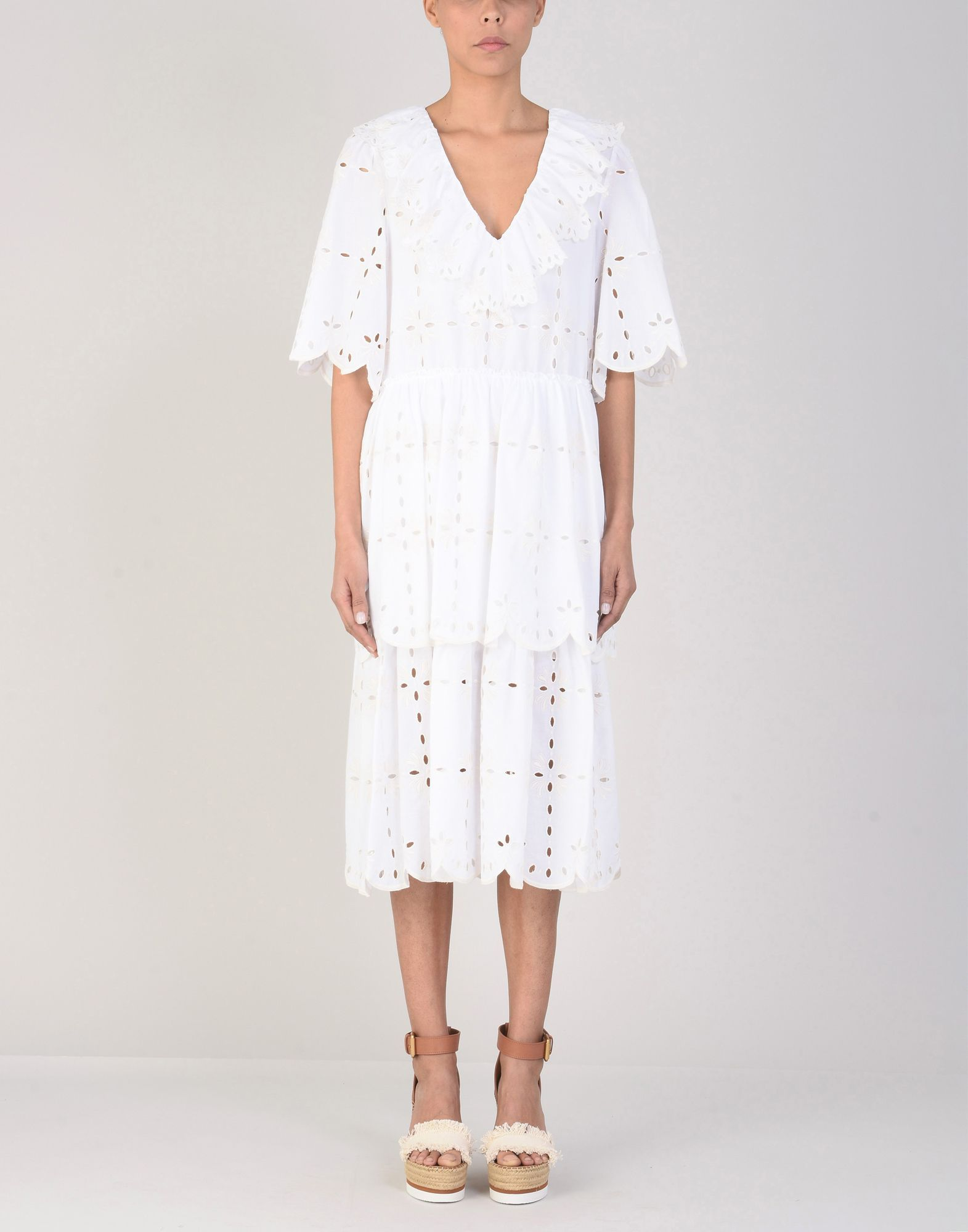 See By Chloe White Cotton Dress