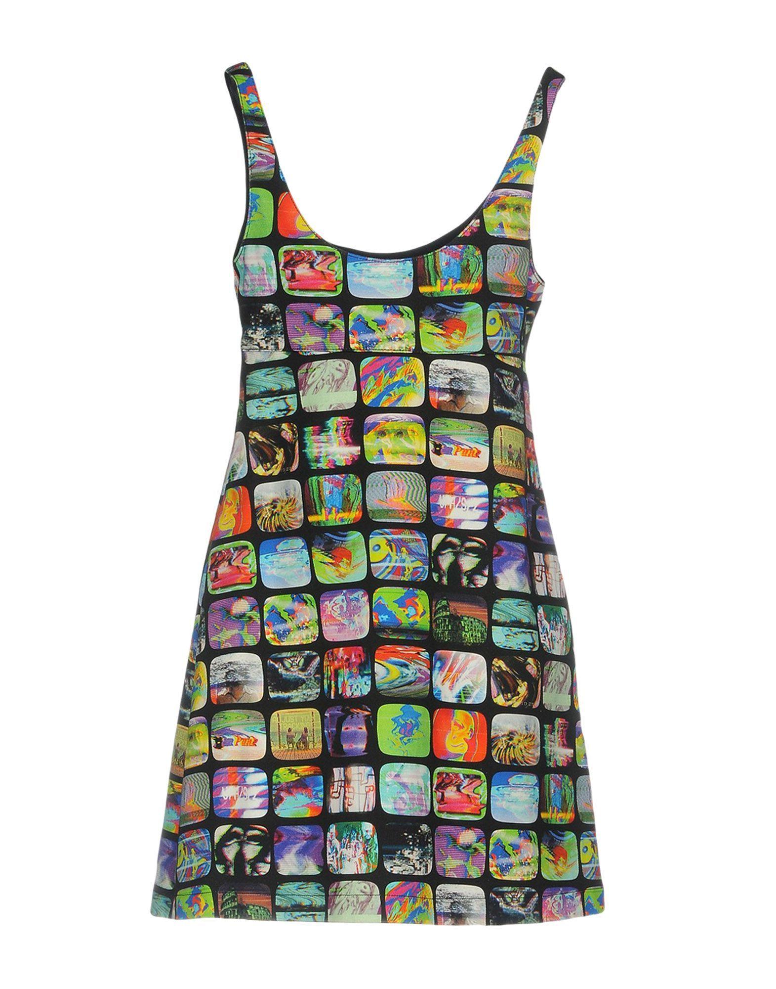 Jeremy Scott Black Print Cotton Dress