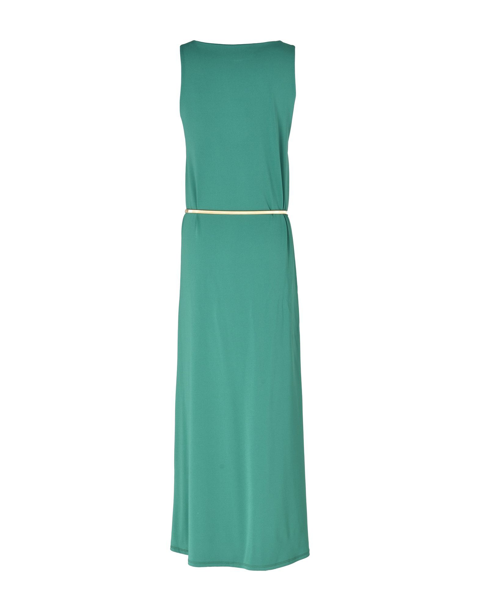 Kaos Green Full Length Belted Dress