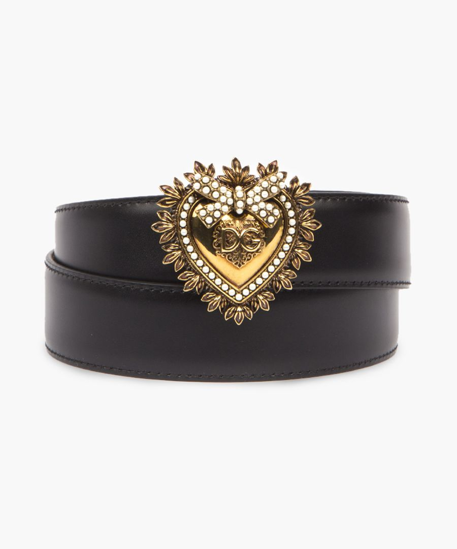 Devotion black leather belt