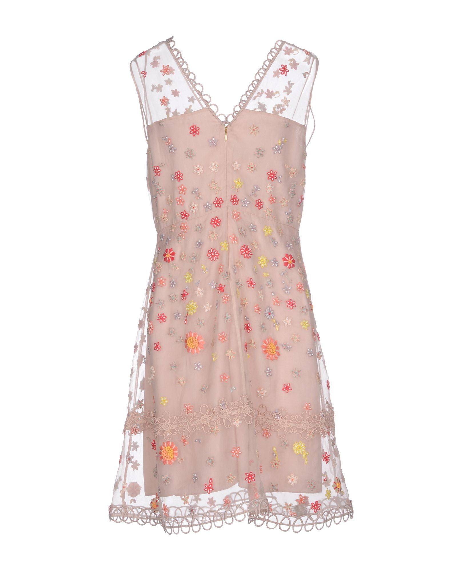 Elie Tahari Pink Silk And Lace Dress