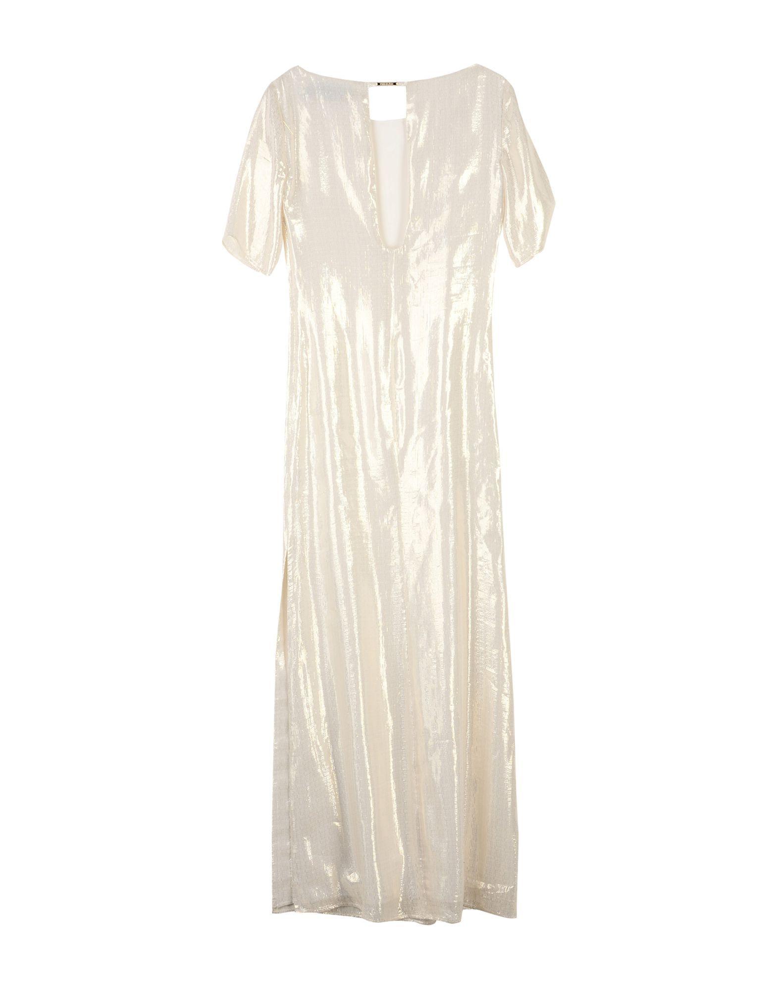 Patrizia Pepe Sera Beige Silk Full Length Dress