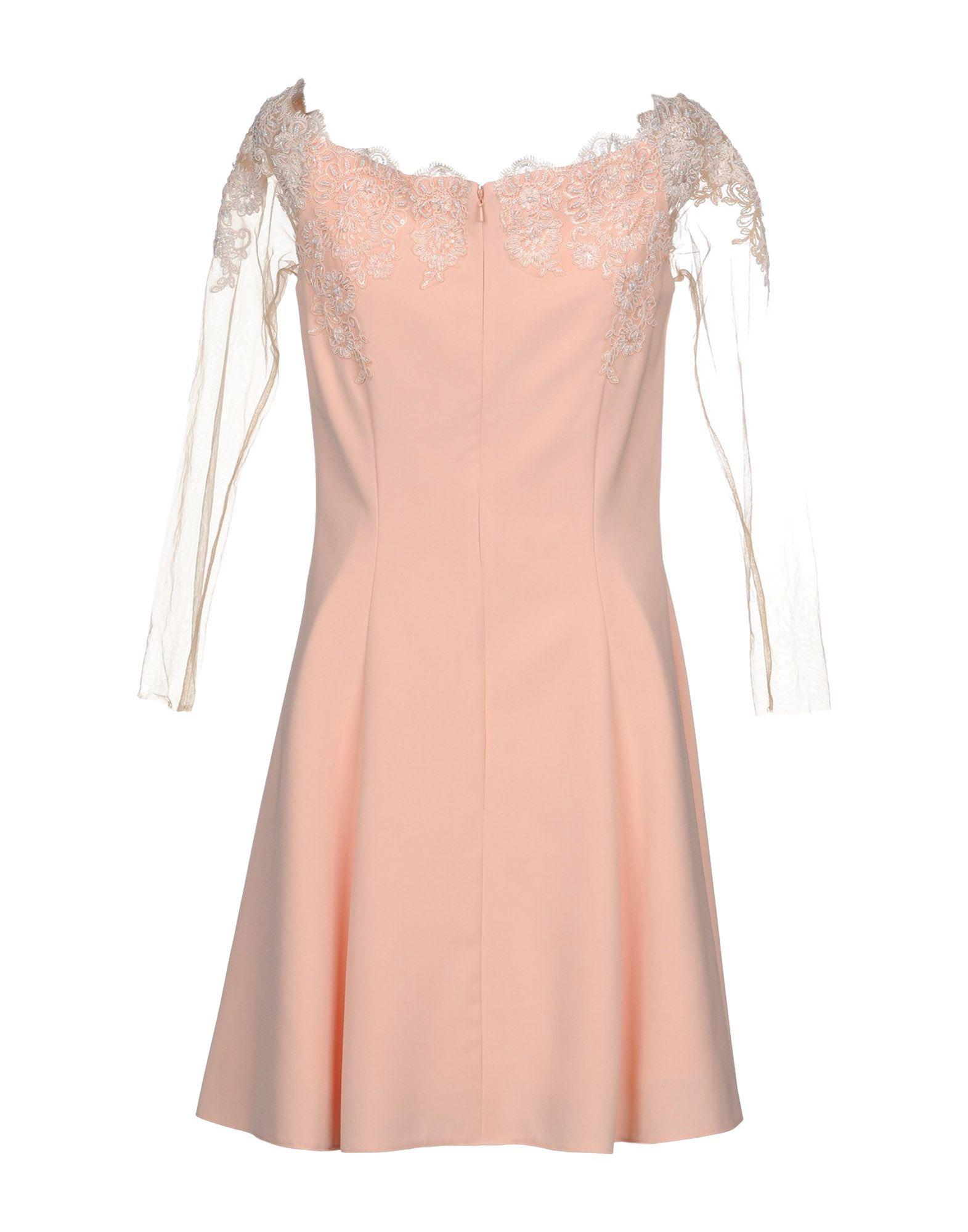 Forever Unique Salmon Pink Lace Dress