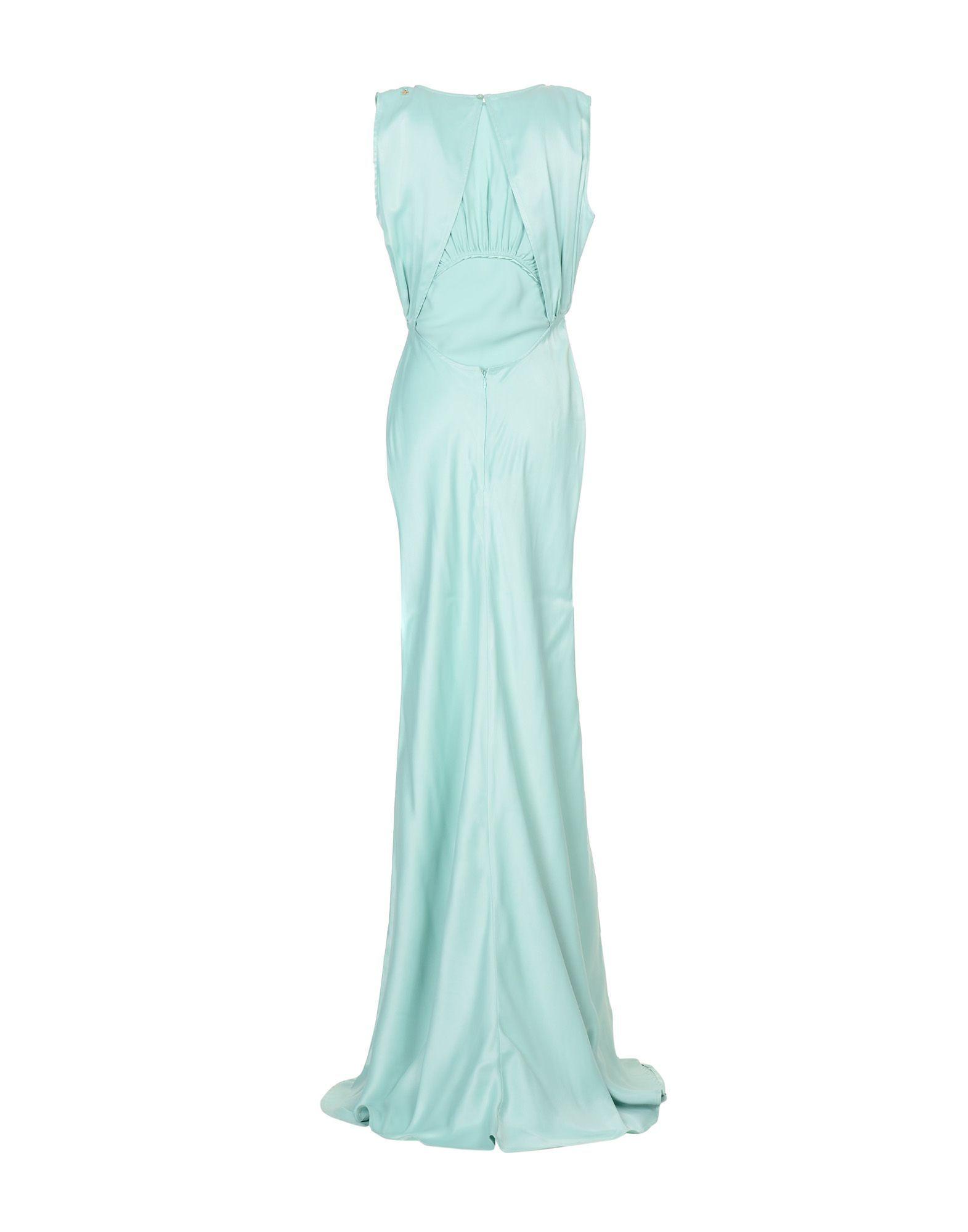 Elisabetta Franchi Light Green Full Length Dress