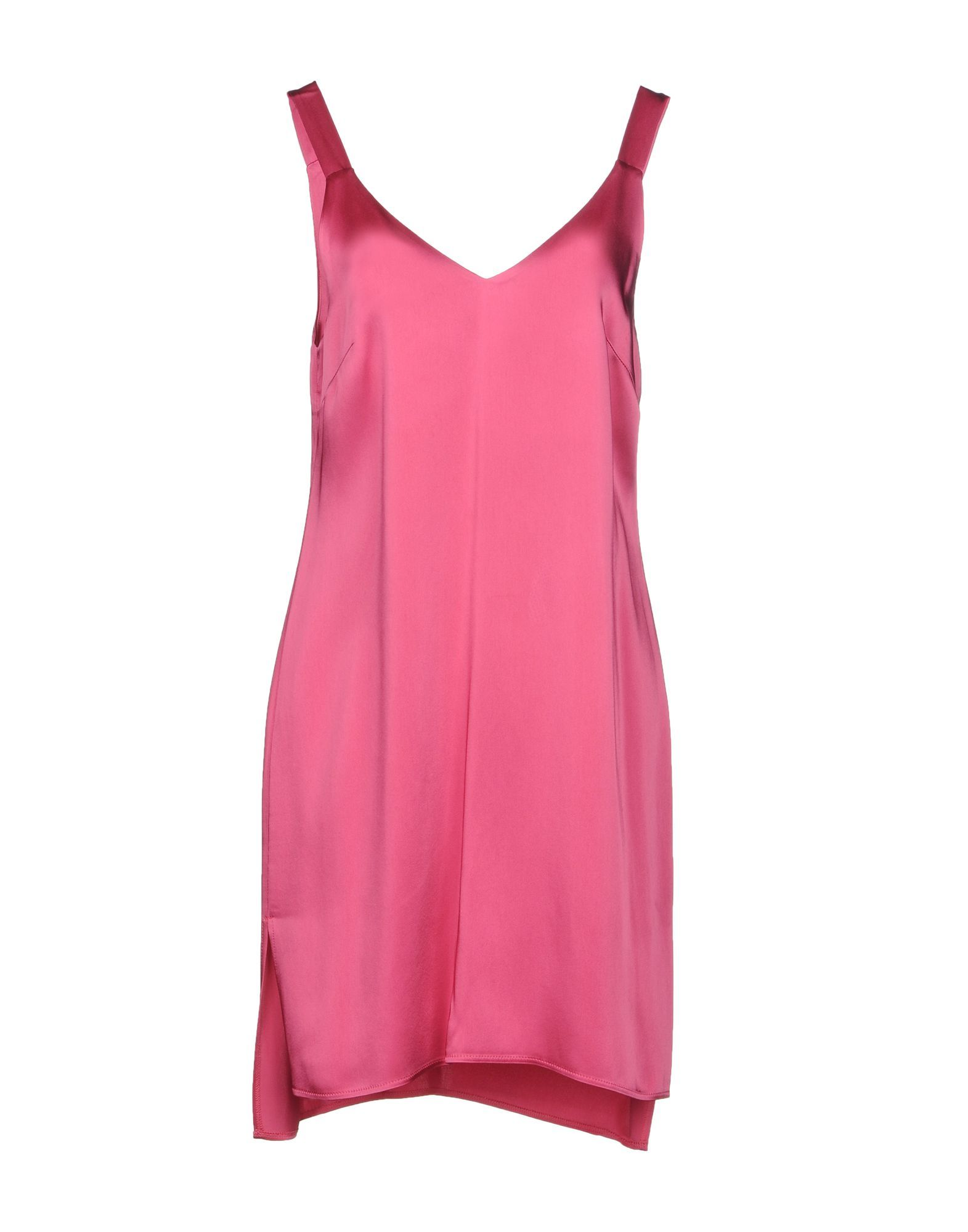 Carla G. Fuchsia Satin Dress