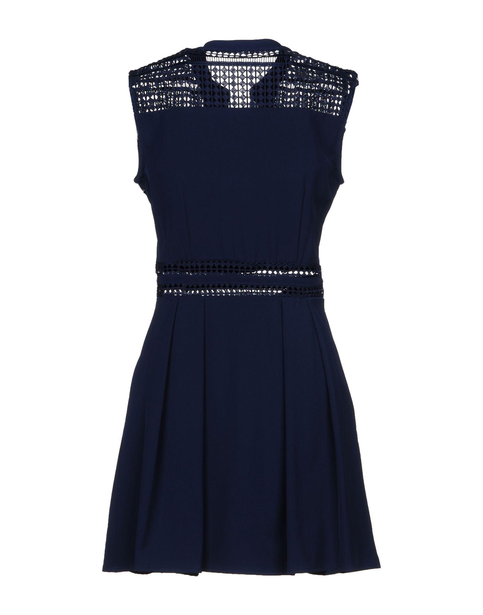 Yes Zee By Essenza Dark Blue Crepe Dress