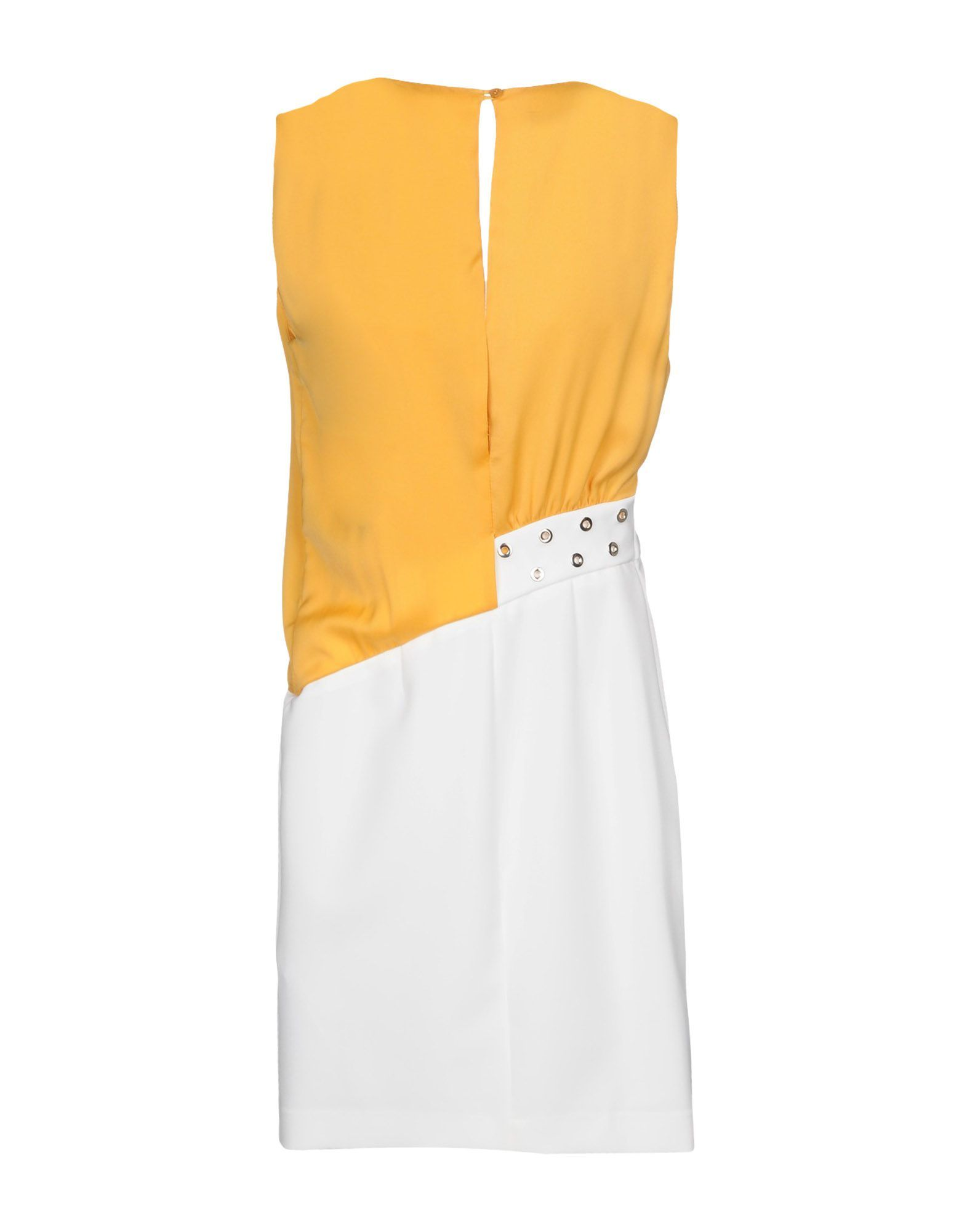 Annarita N Yellow Contrast Pencil Style Dress