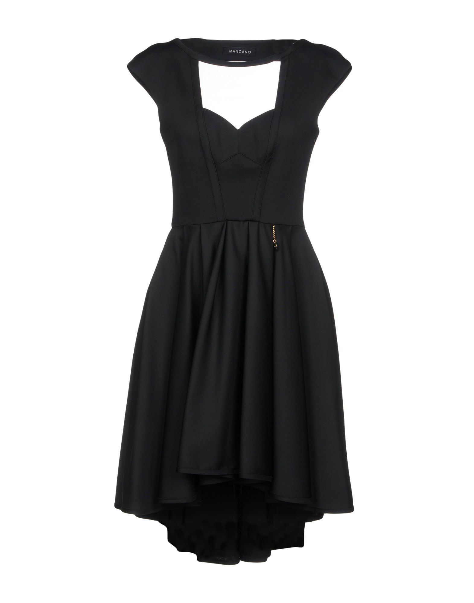 Mangano Black Tulle And Crepe Dress