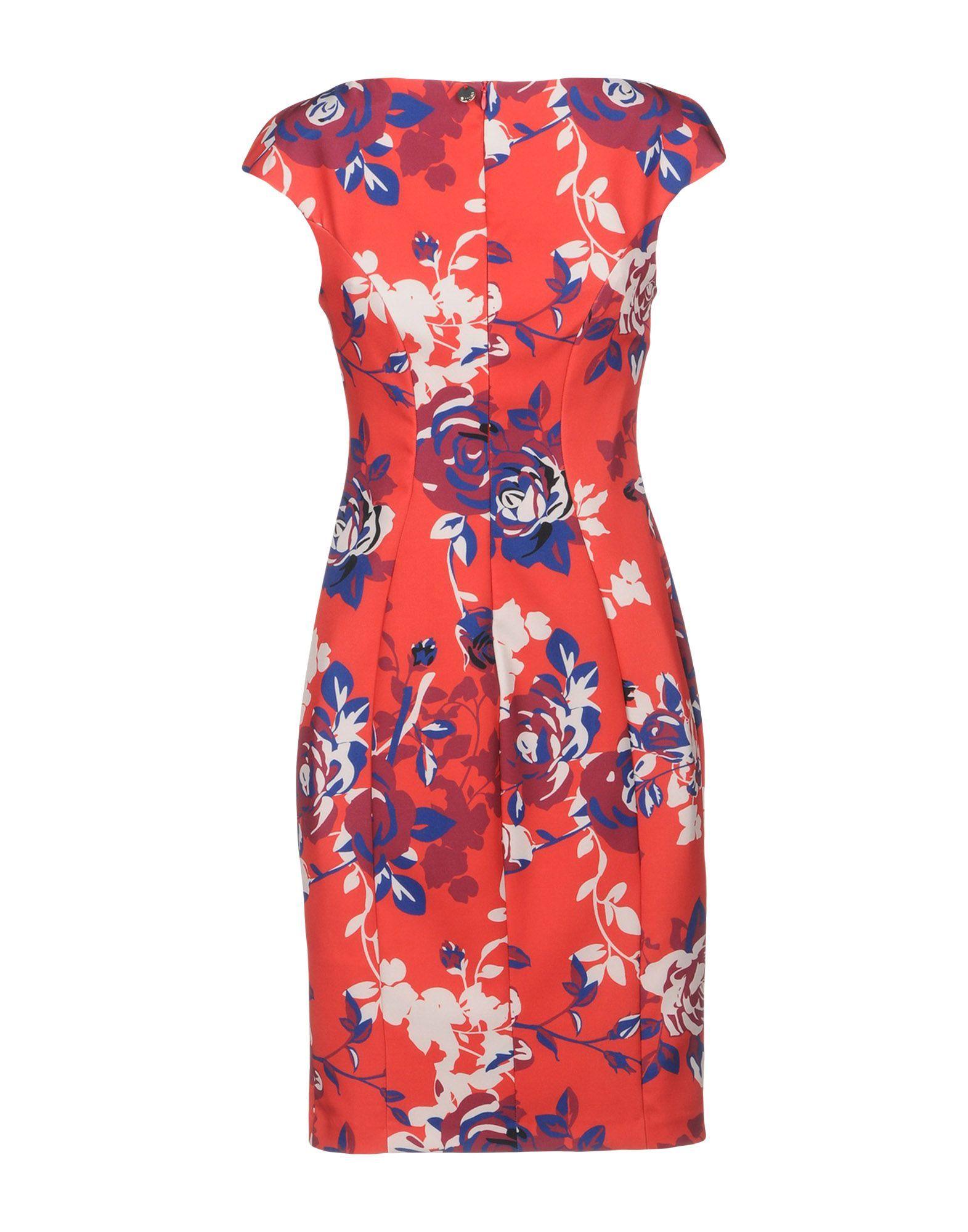 Liu Jo Red Print Short Dress