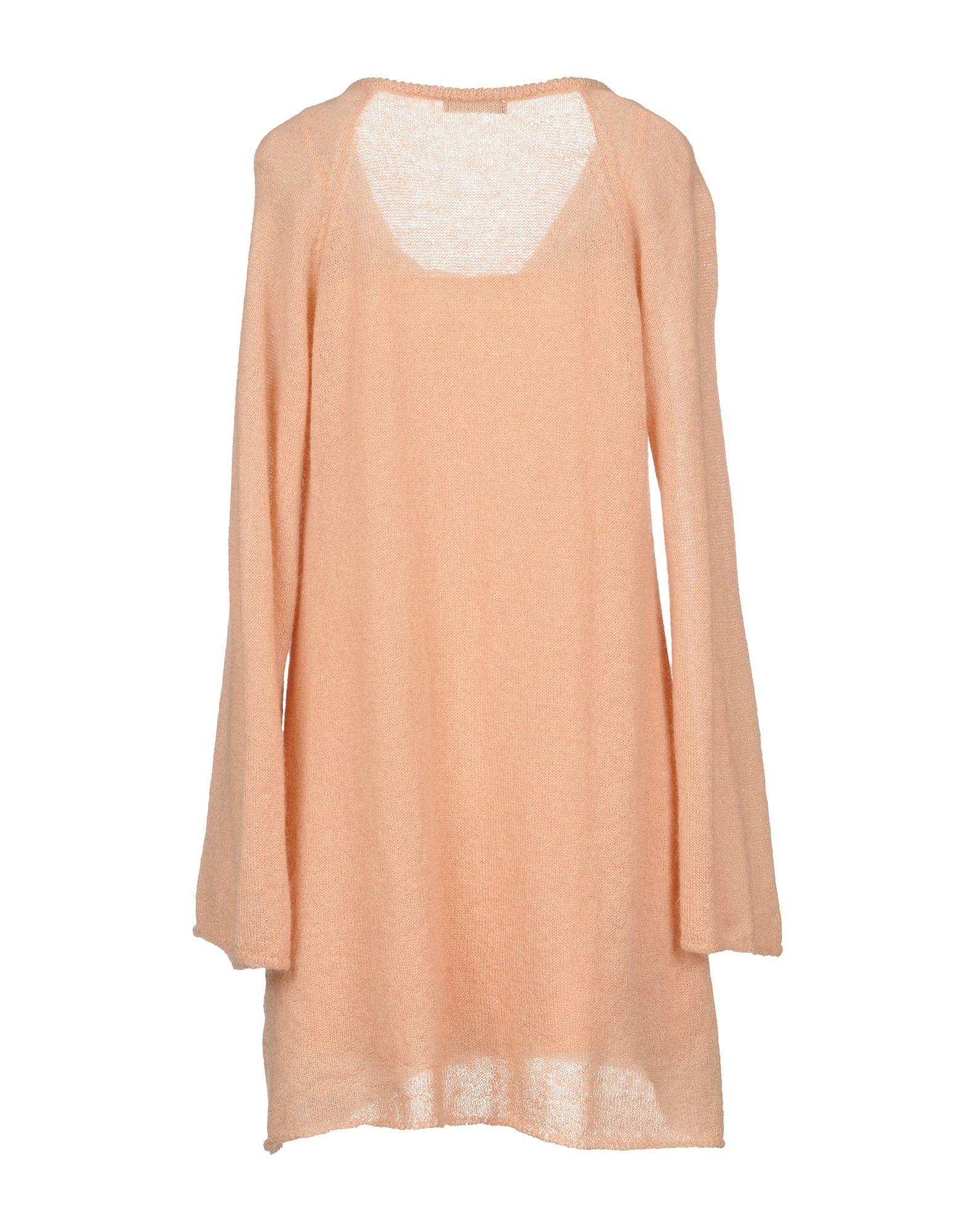 Twinset Apricot Mohair Wool Long Sleeve Jumper Dress