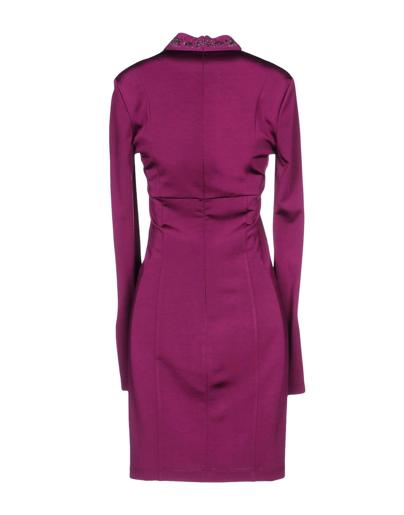Just Cavalli Mauve Long Sleeve Dress
