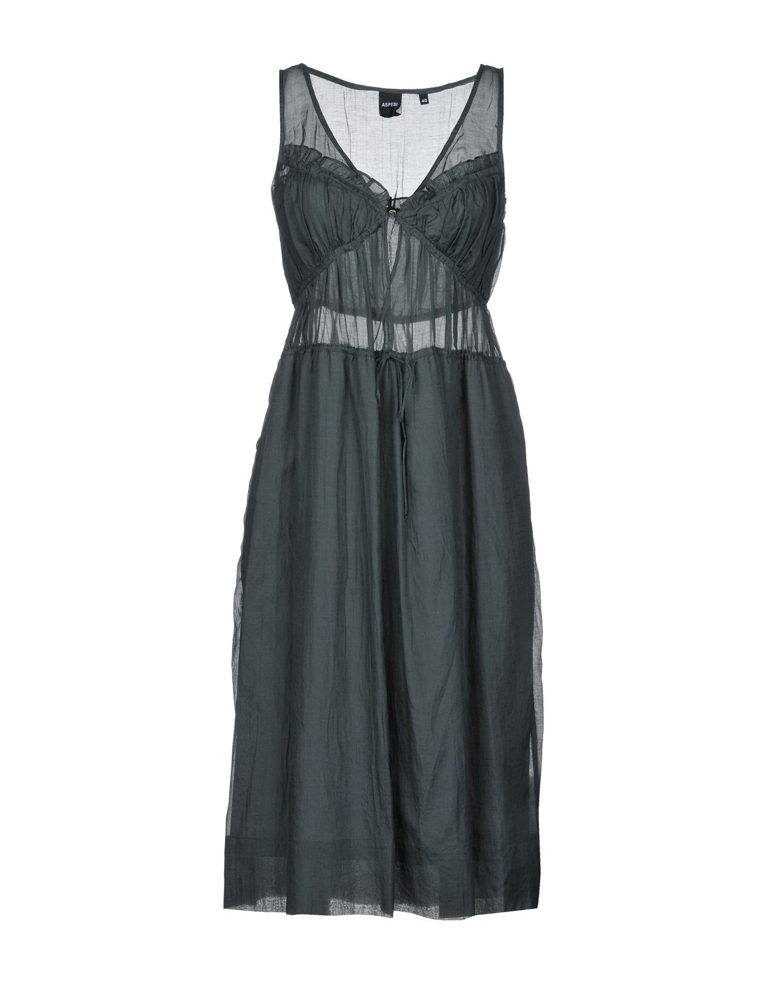 Aspesi Lead Cotton Sleeveless Dress