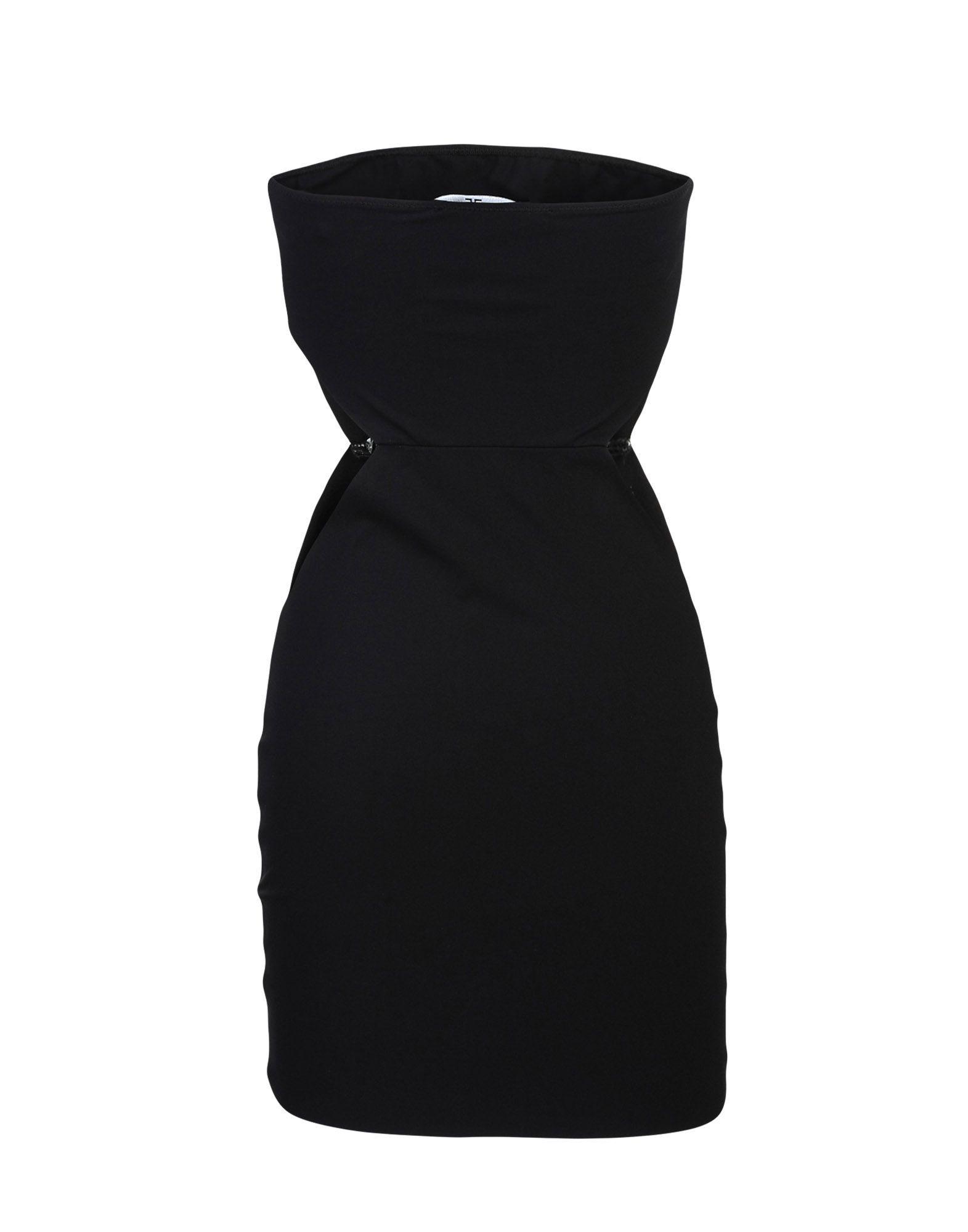 Elisabetta Franchi Black Strapless Short Dress