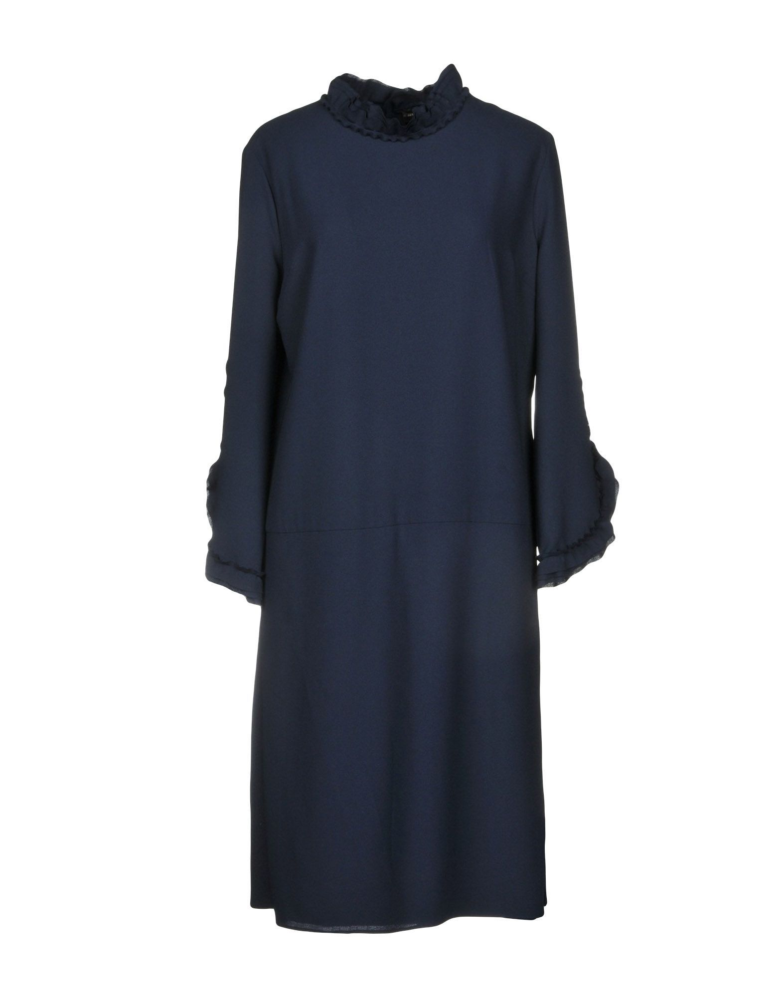 Alessandro Dell'Acqua Dark Blue Long Sleeve Dress