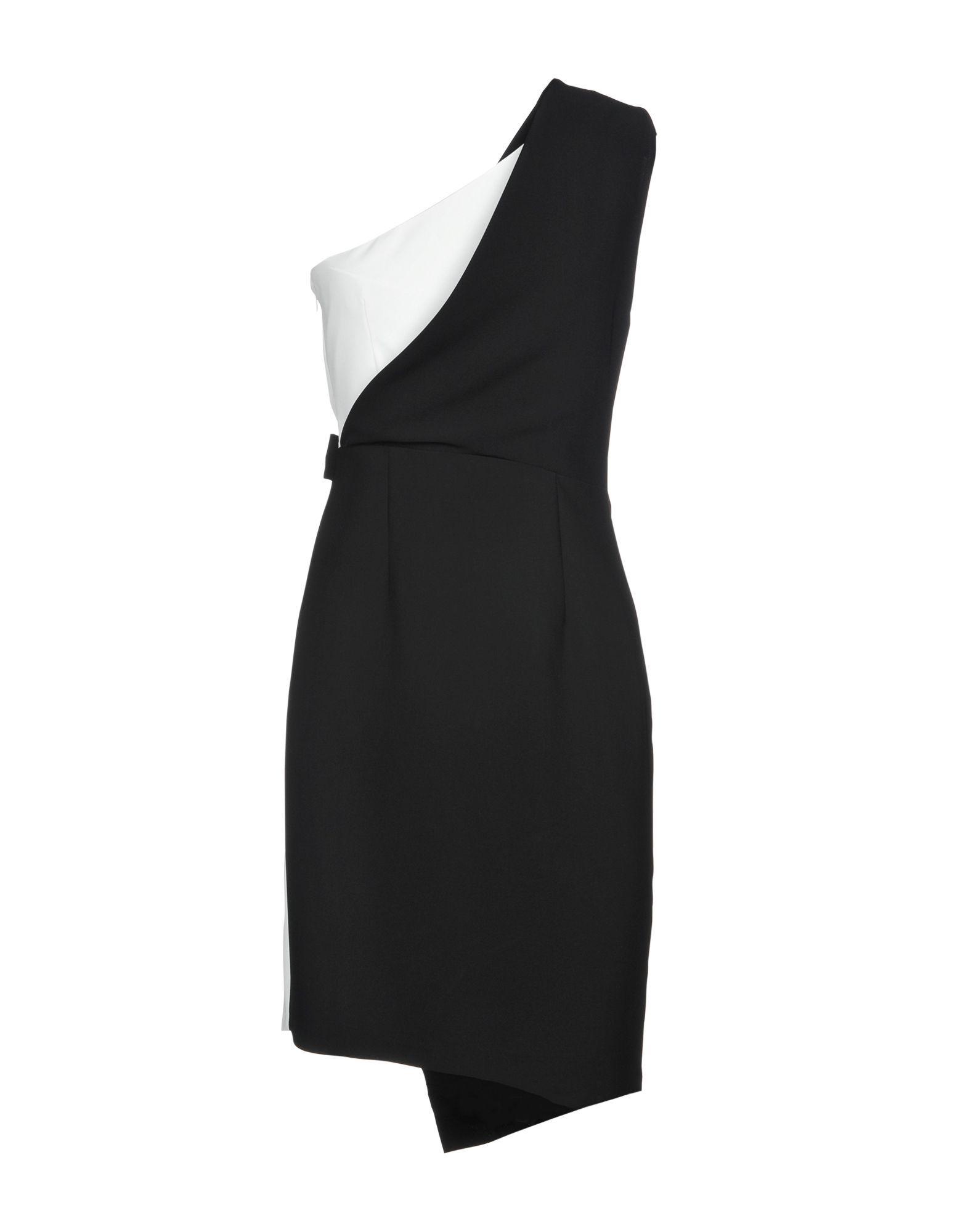 Kaos Monochrome One Shoulder Dress