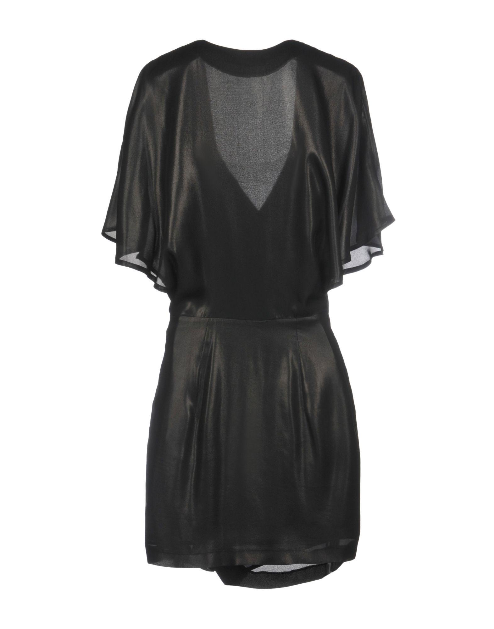 Plein Sud Black Silk Draped Dress
