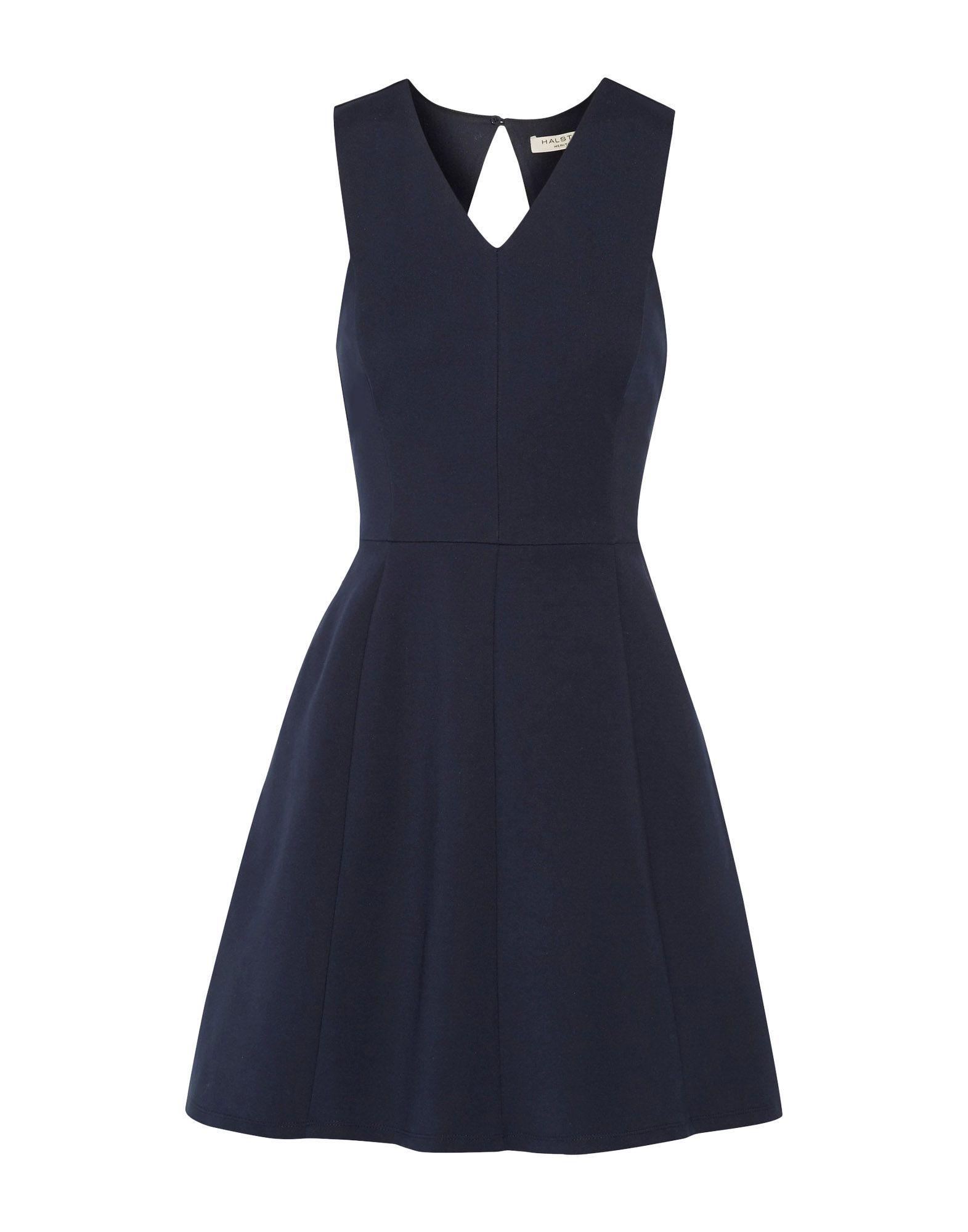 Halston Dark Blue Short Dress