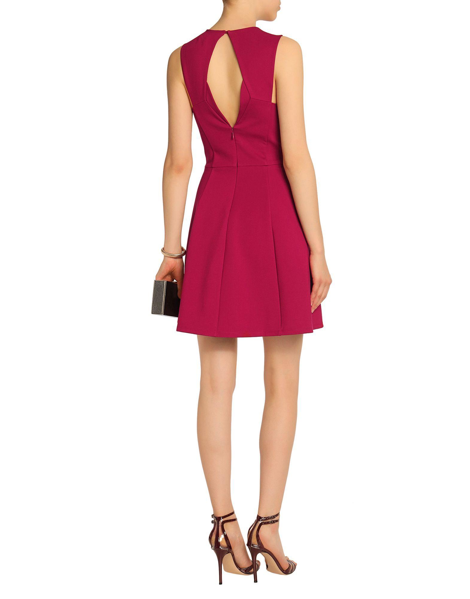 Halston Garnet Short Dress