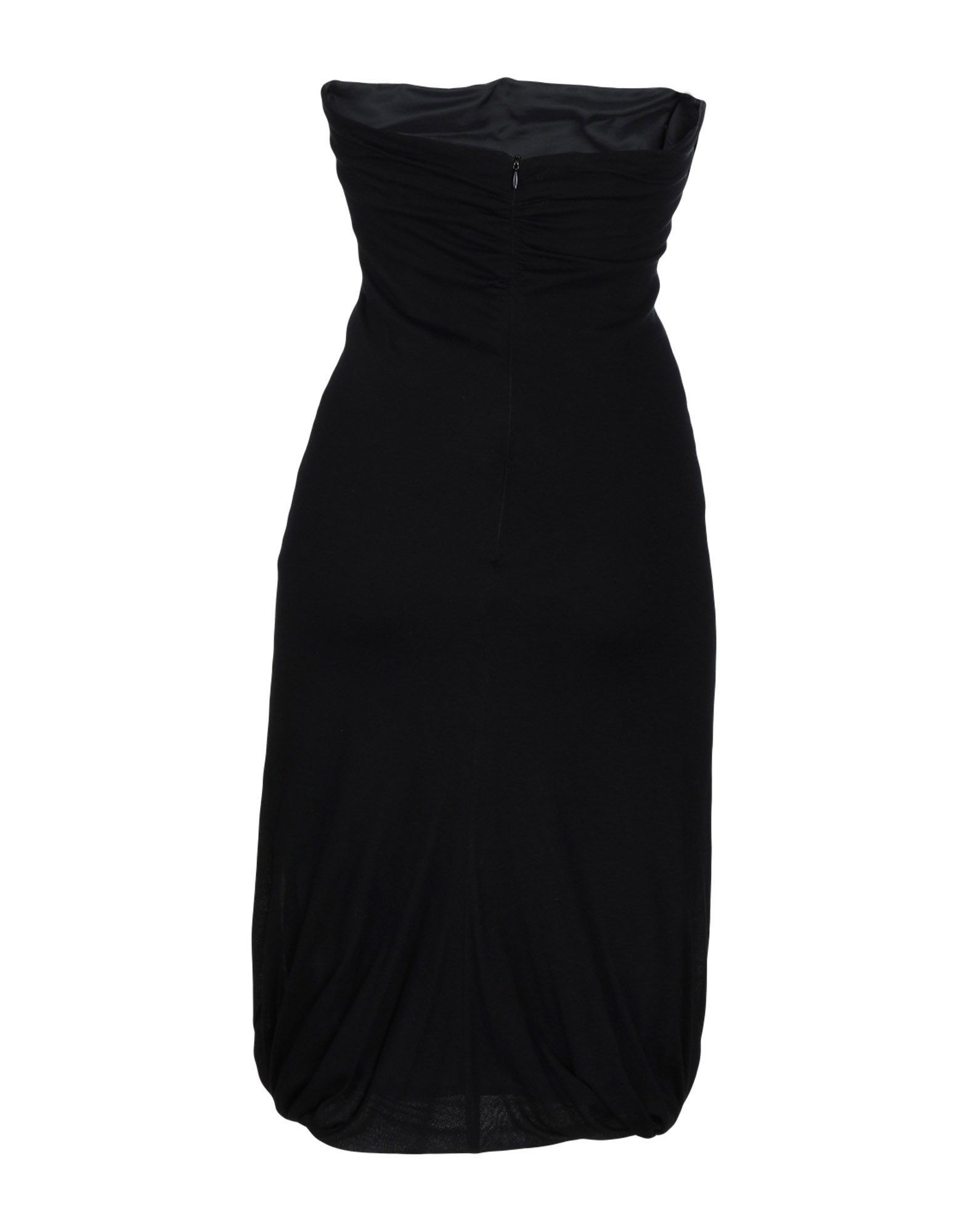 Alessandro Dell'Acqua Black Virgin Wool Draped Neckline Dress