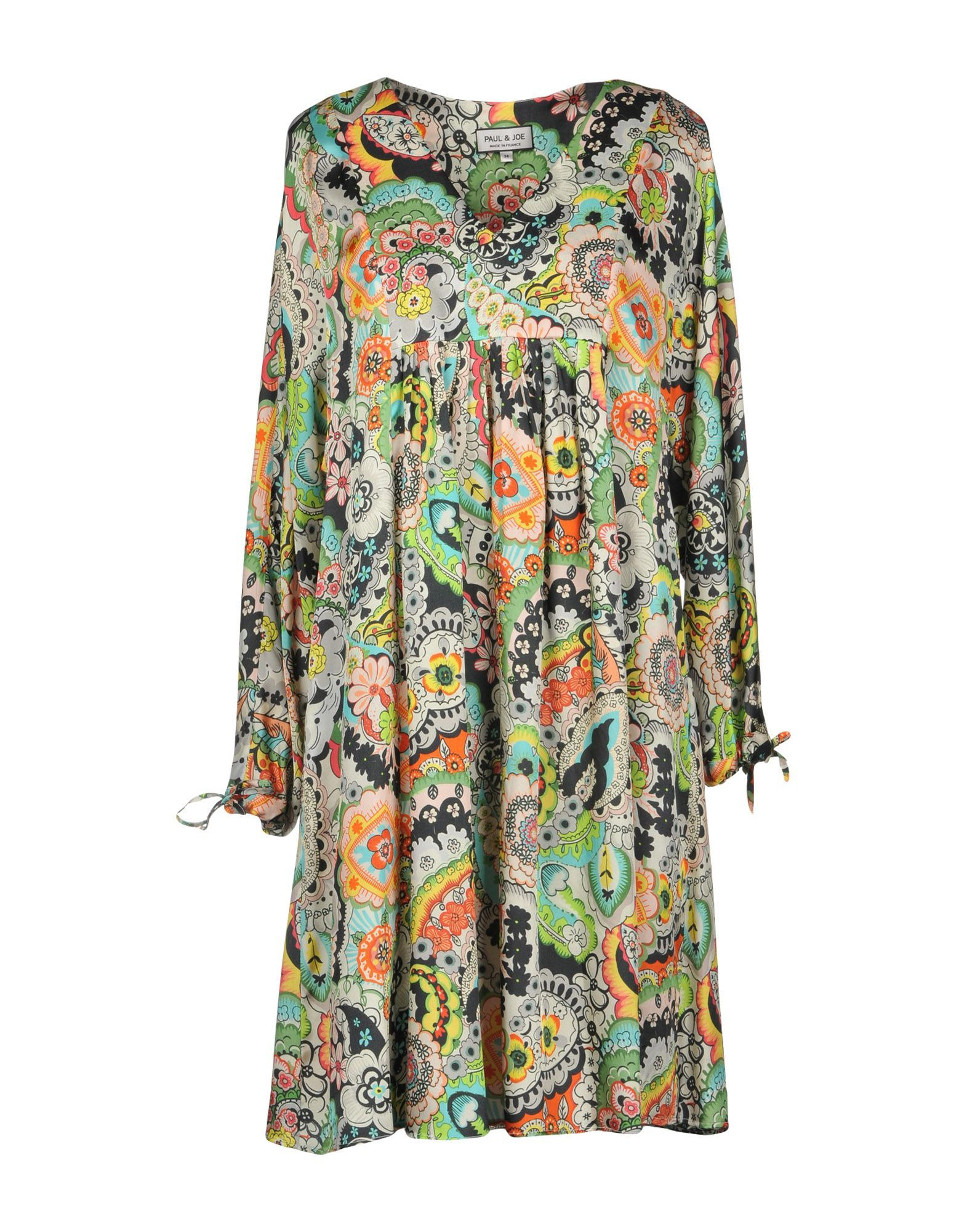 Paul & Joe Green Paisley Print Long Sleeve Dress