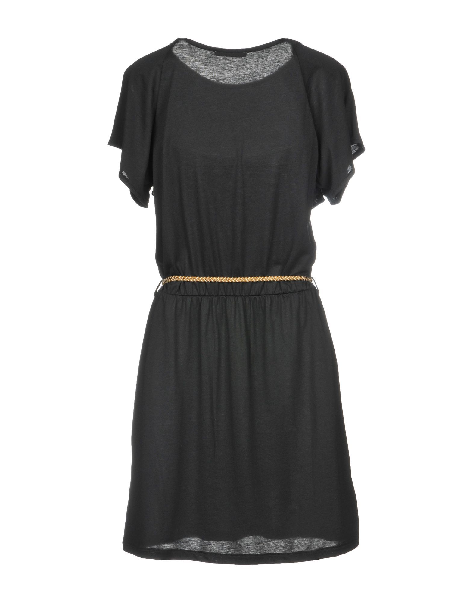 Sessun Black Short Sleeve Belted Dress