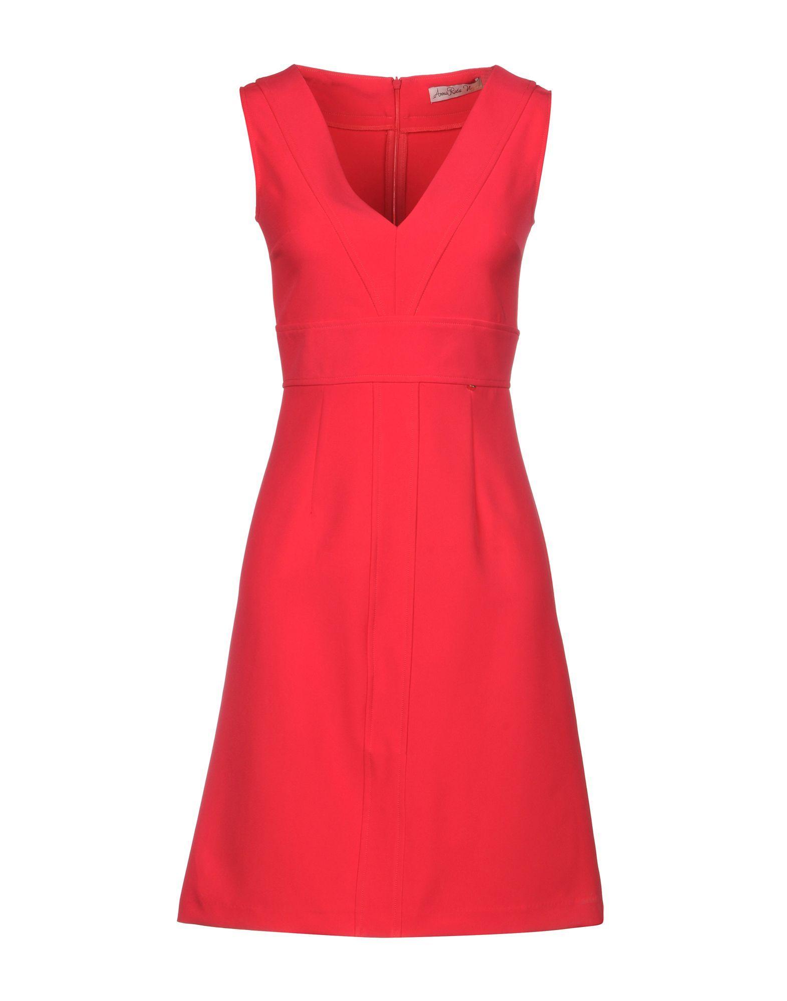 Annarita N Fuchsia V Neck Dress