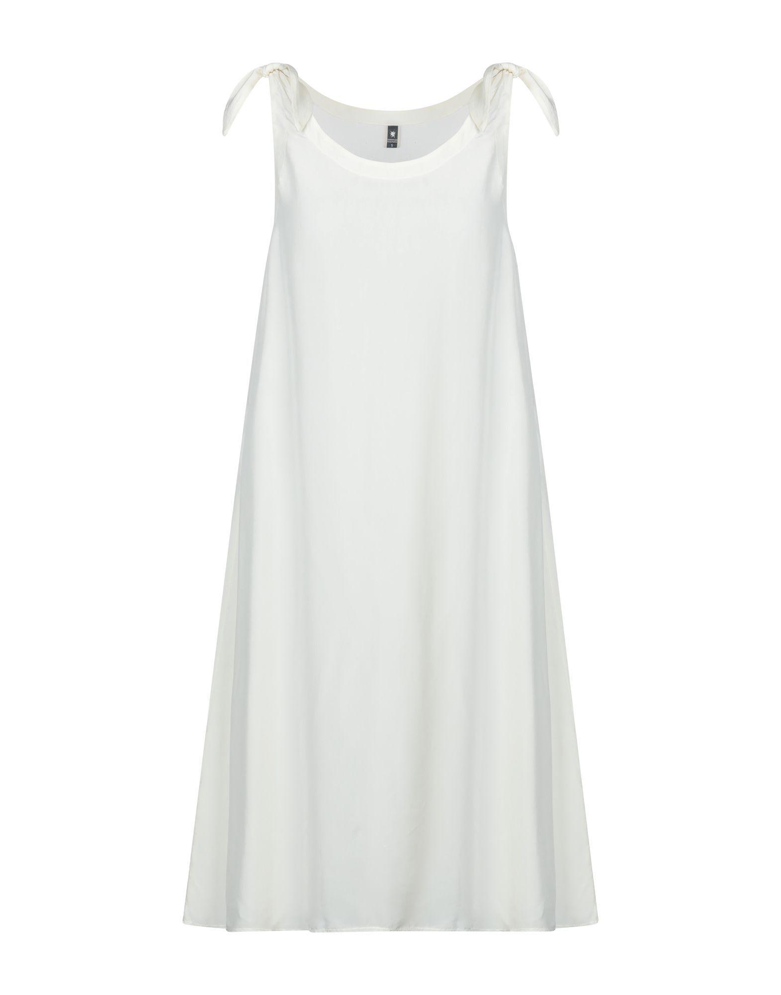 European Culture Ivory Satin Trapeze Style Dress