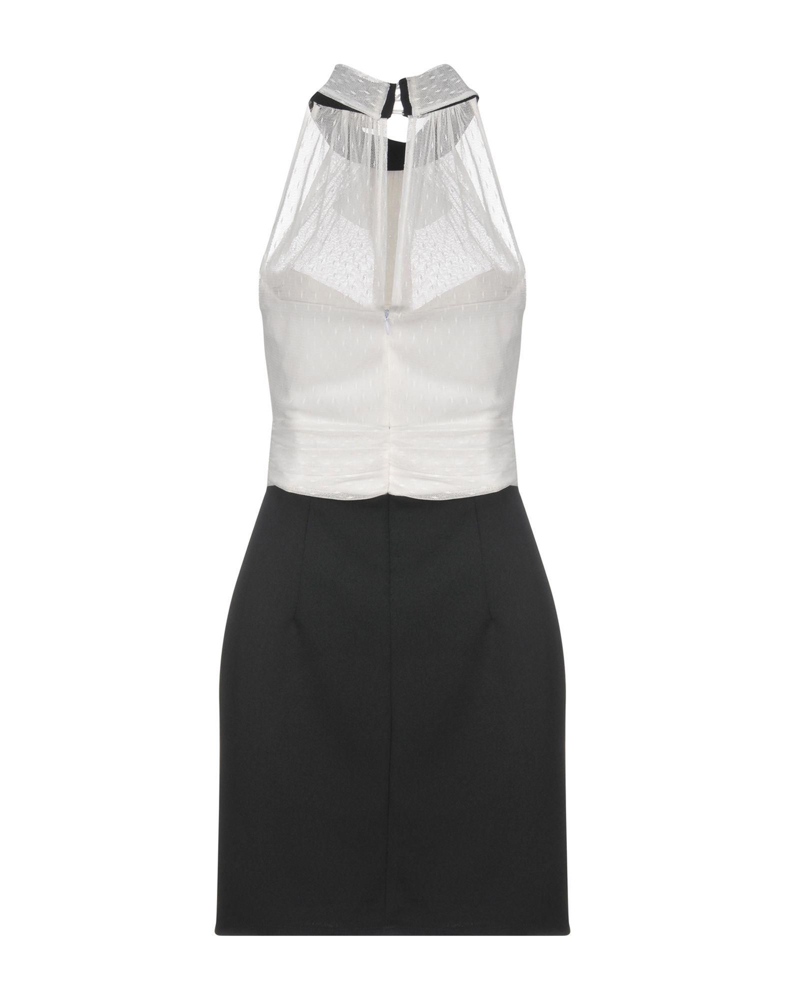 Mangano Monochrome Lace Short Dress