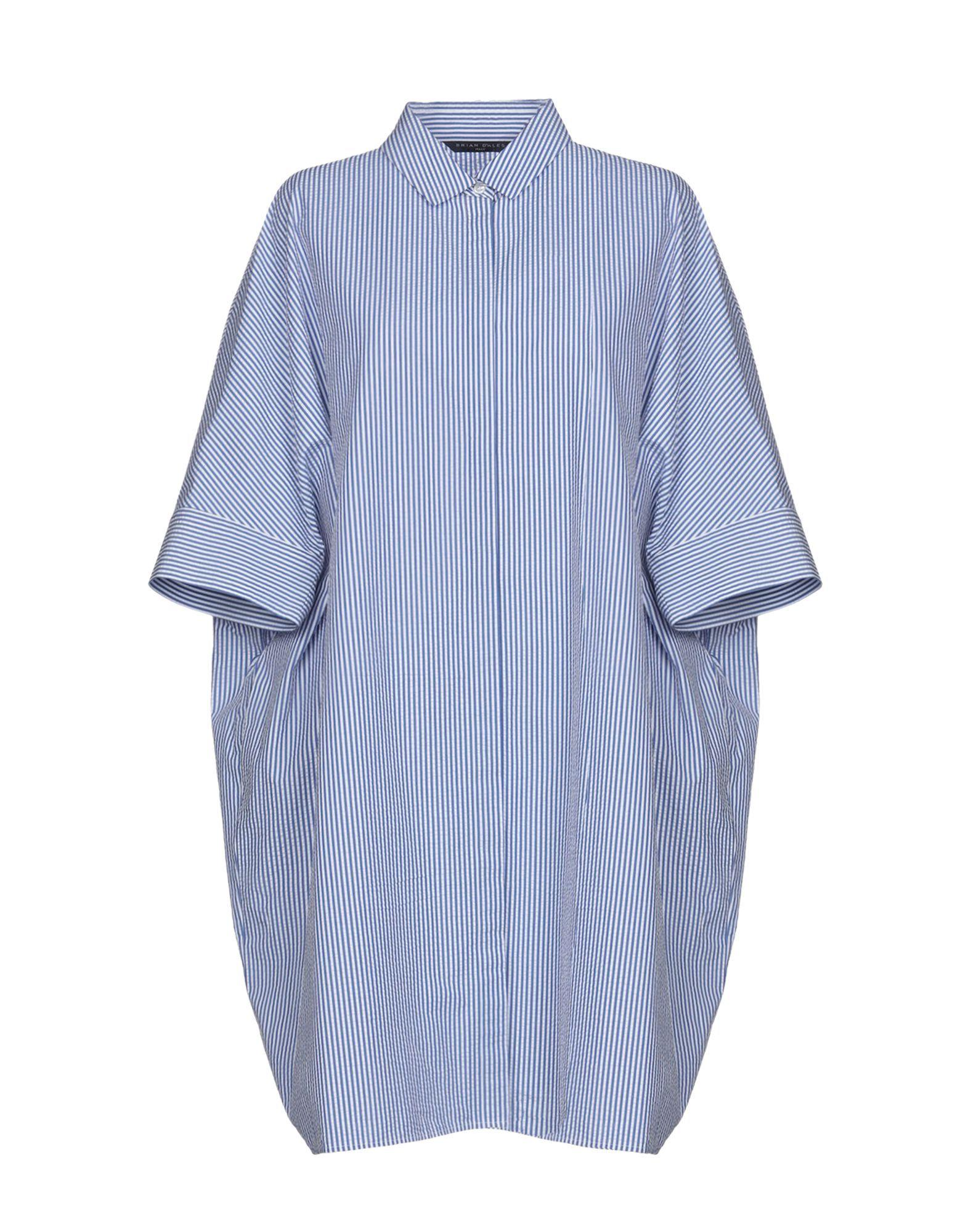 Brian Dales Blue Cotton Shirt Dress