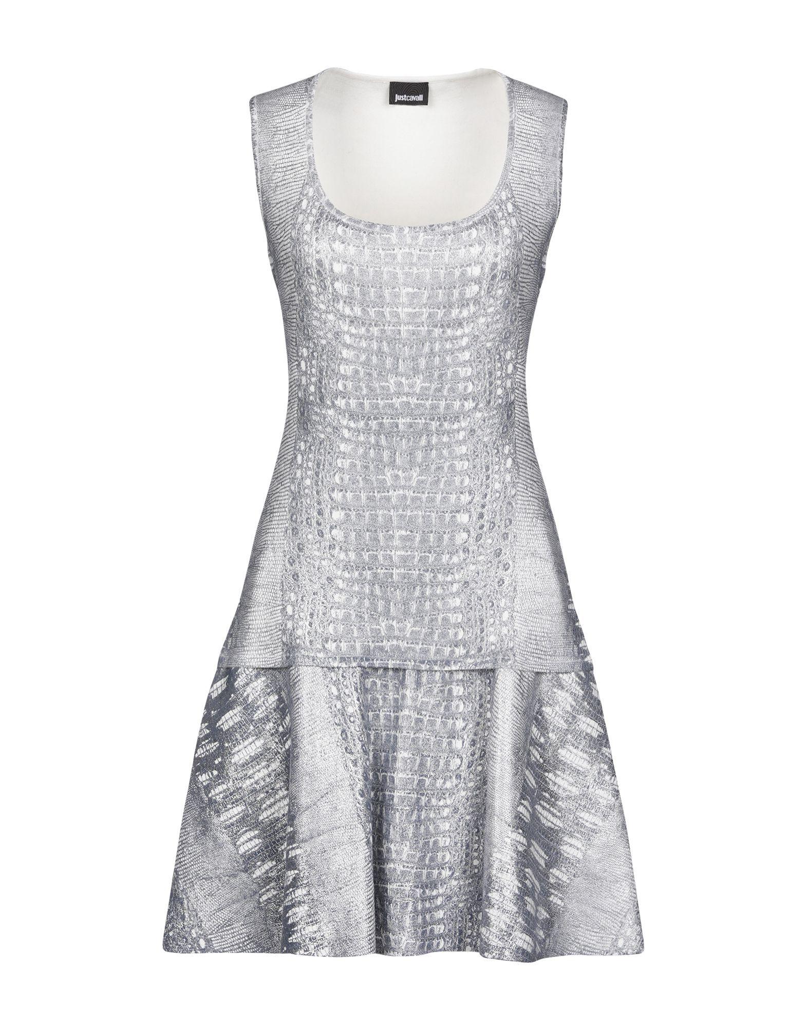 Just Cavalli Light Grey Short Dress