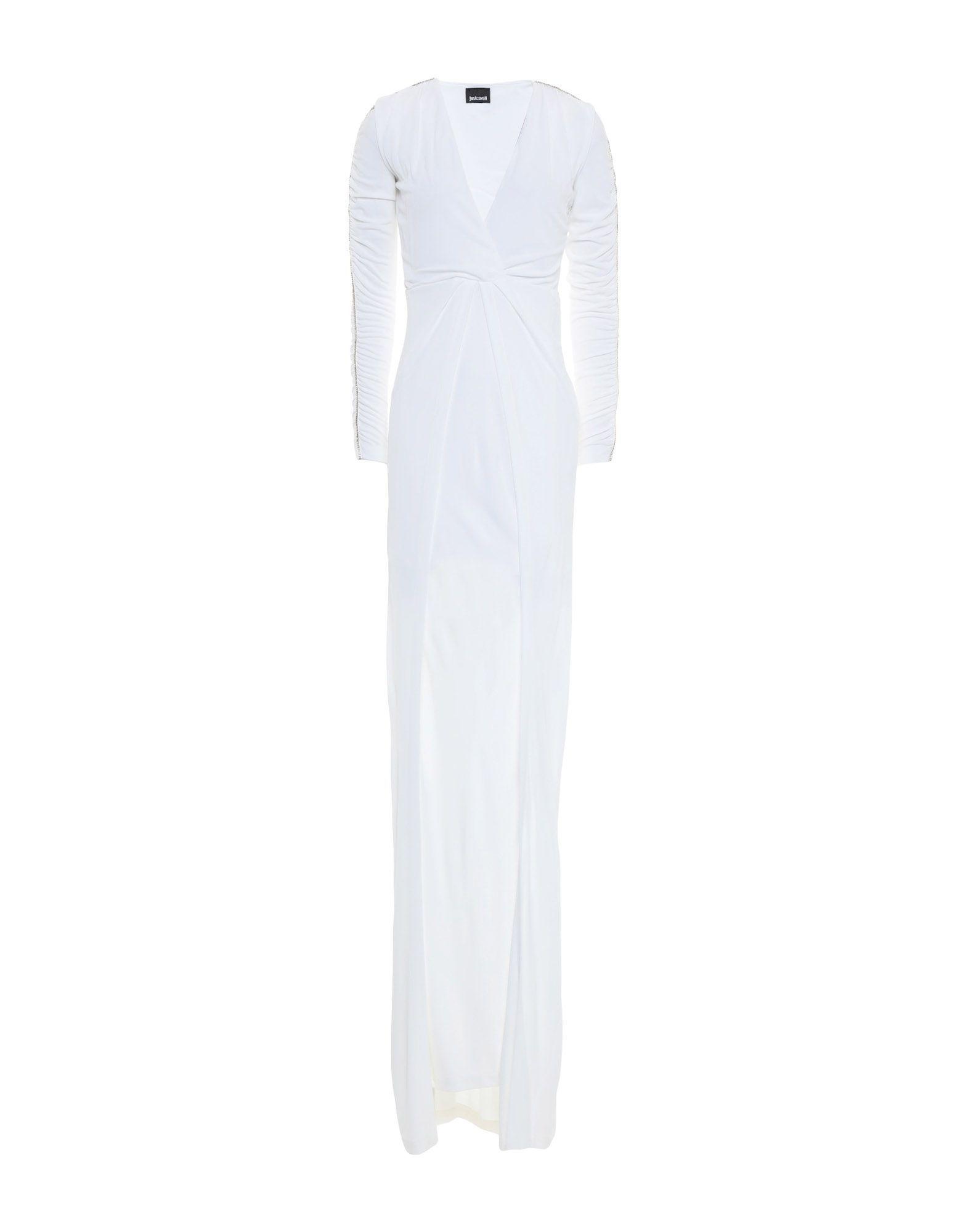 Just Cavalli White Long Sleeve Full Length Dress