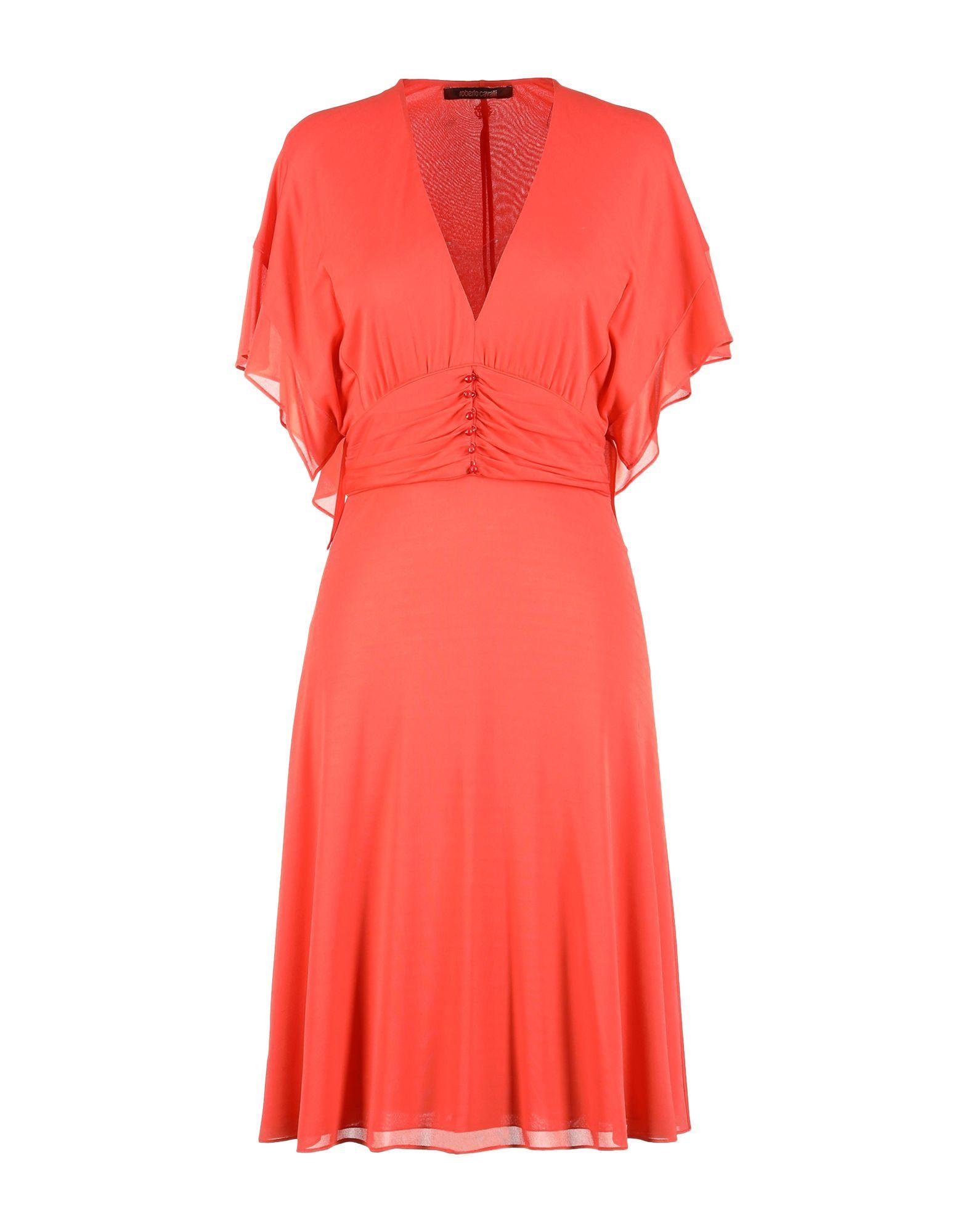 Roberto Cavalli Orange Dress